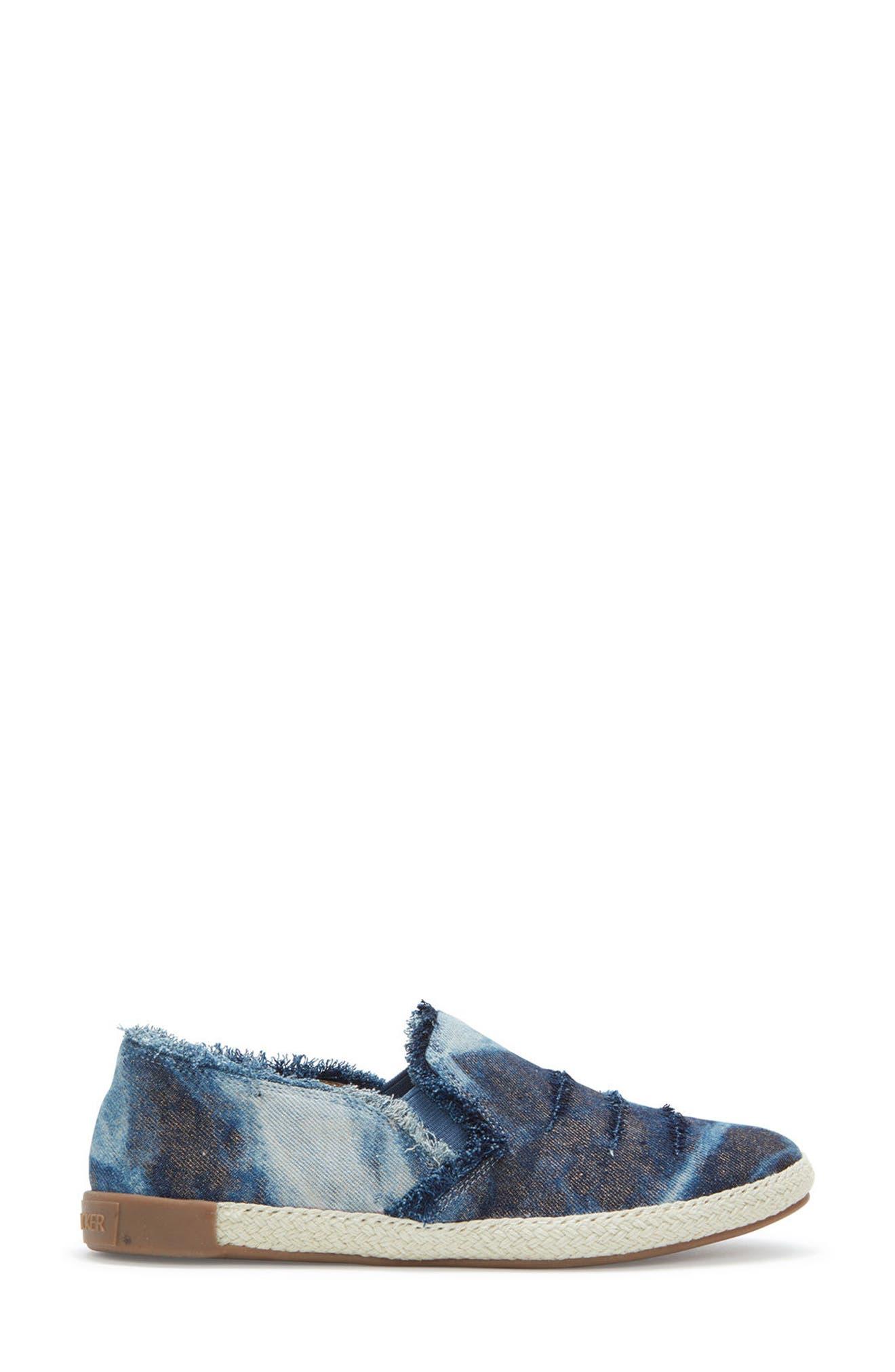 Adam Tucker Marin Slip-On Sneaker,                             Alternate thumbnail 3, color,                             Blue Champagne Denim Fabric