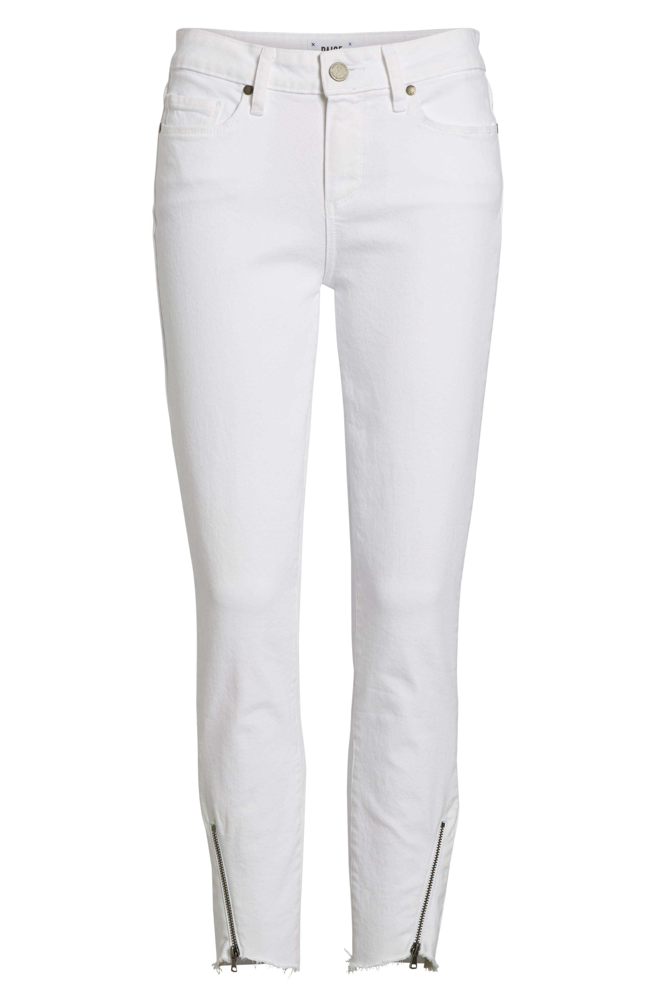 Verdugo Crop Ultra Skinny Jeans,                             Alternate thumbnail 7, color,                             Crisp White