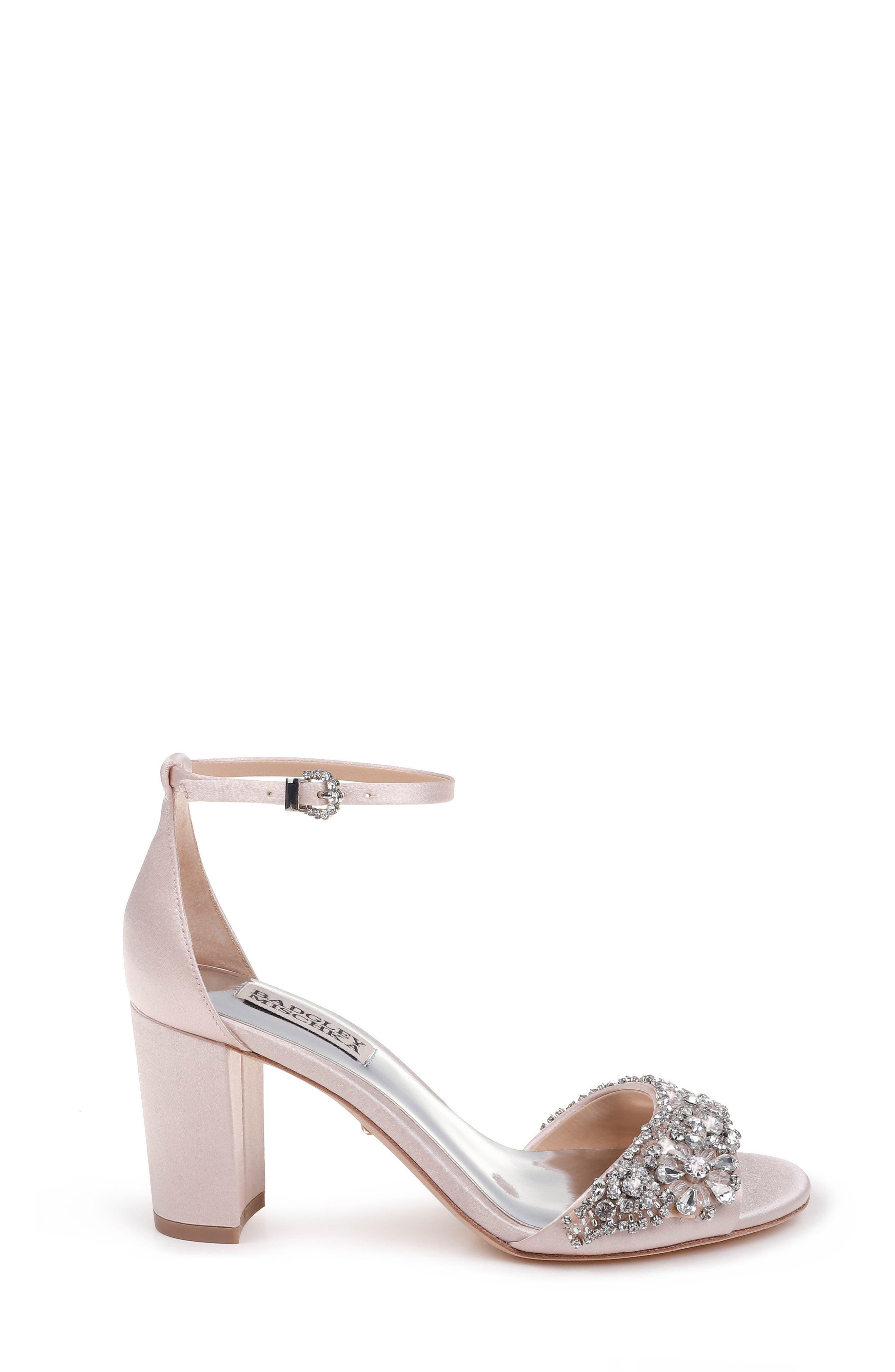 Alternate Image 3  - Badgley Mischka Hines Embellished Block Heel Sandal (Women)