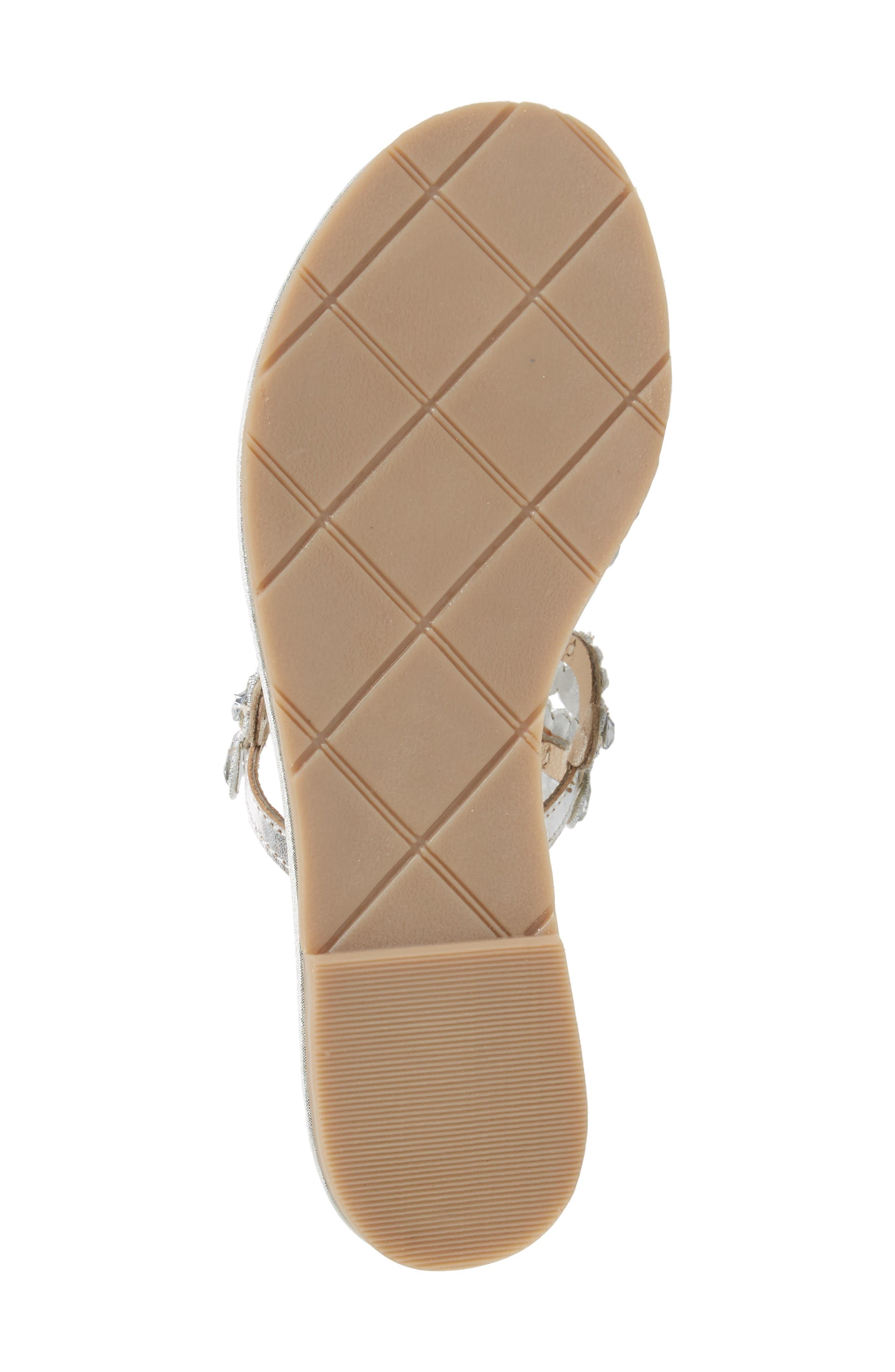 St. Tropez Sandal,                             Alternate thumbnail 6, color,                             Silver Faux Leather