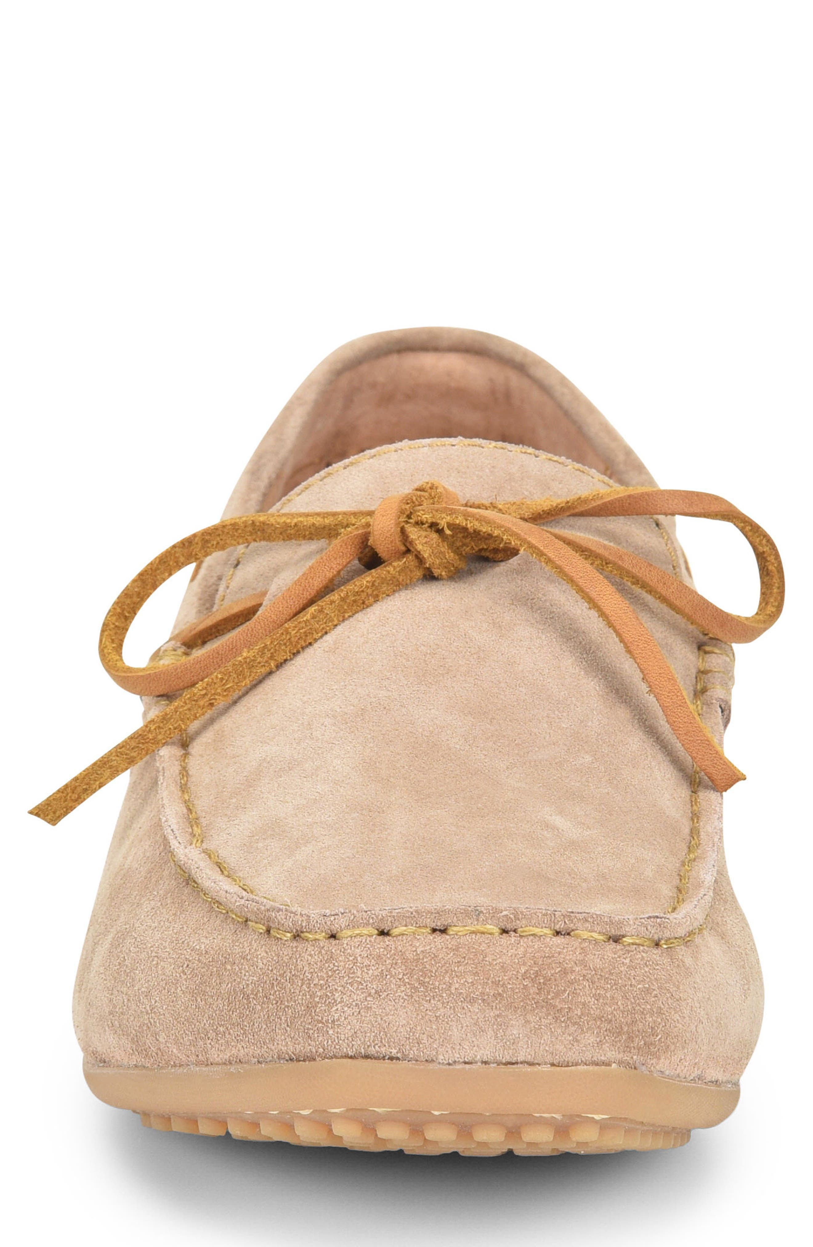 Virgo Driving Shoe,                             Alternate thumbnail 4, color,                             Taupe Suede