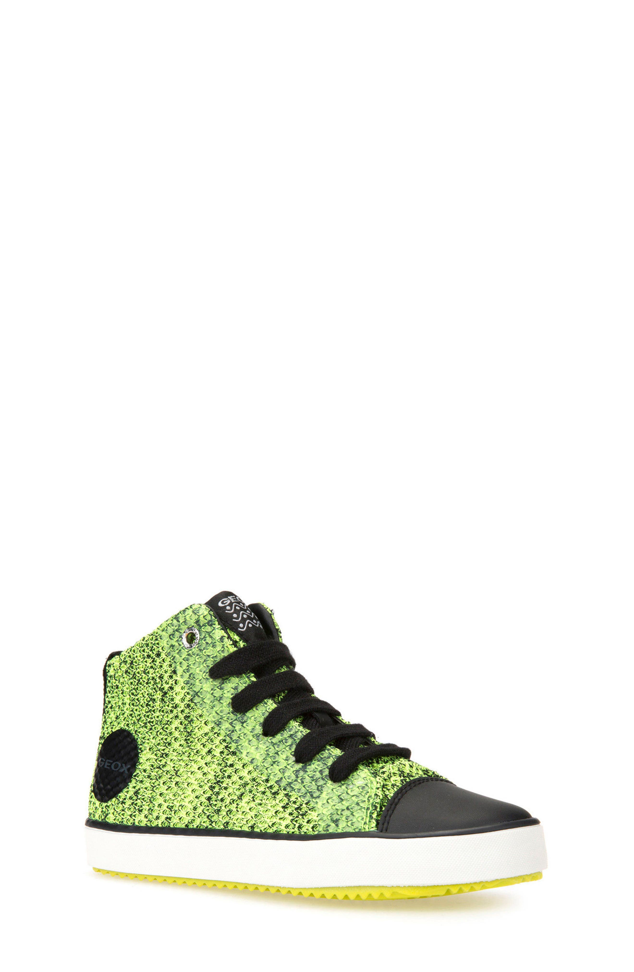 Alonisso Knit Mid Top Sneaker,                             Main thumbnail 1, color,                             Lime/ Black