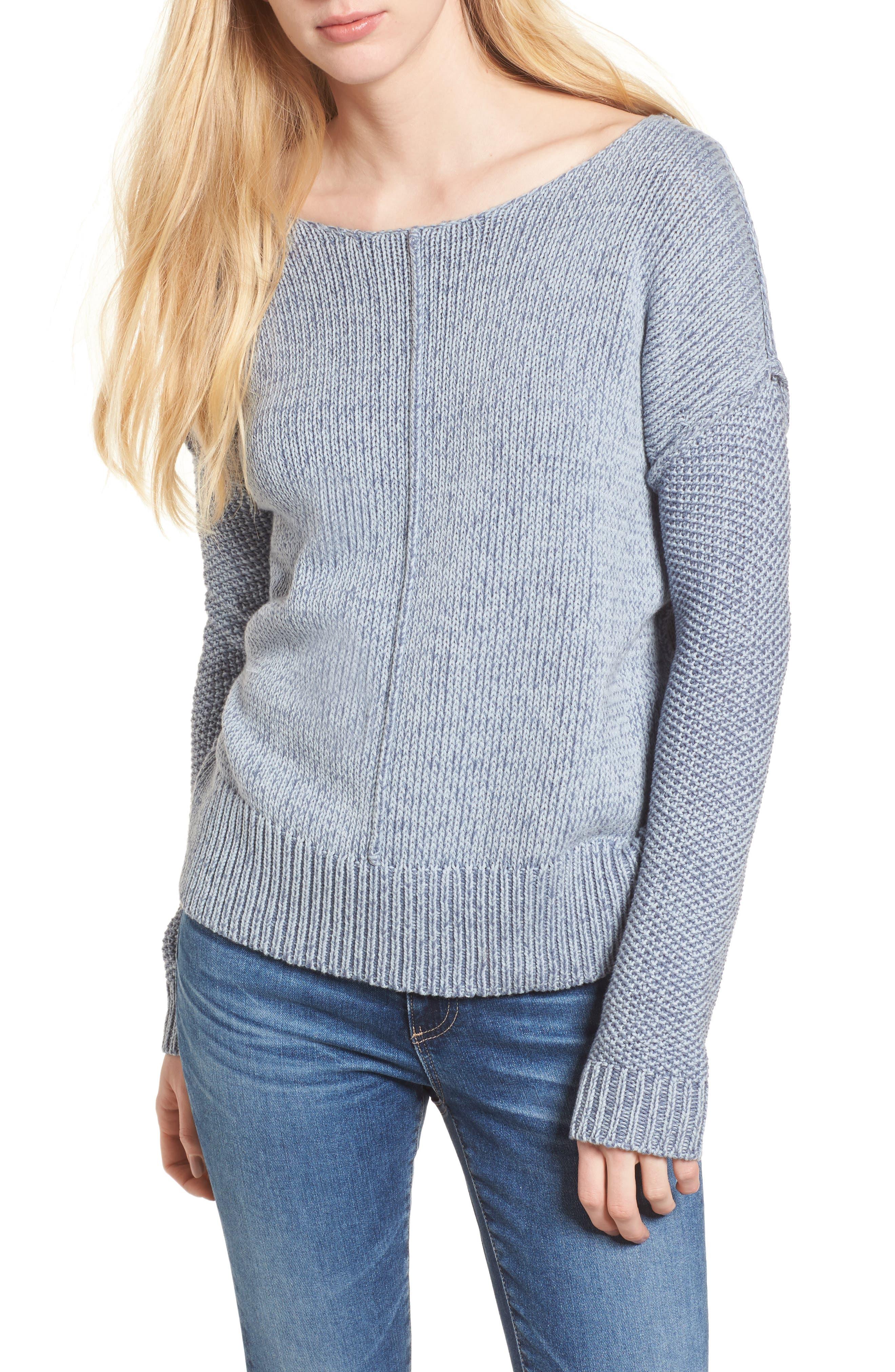 Lola Reversible Twist Sweater,                         Main,                         color, Light Blue