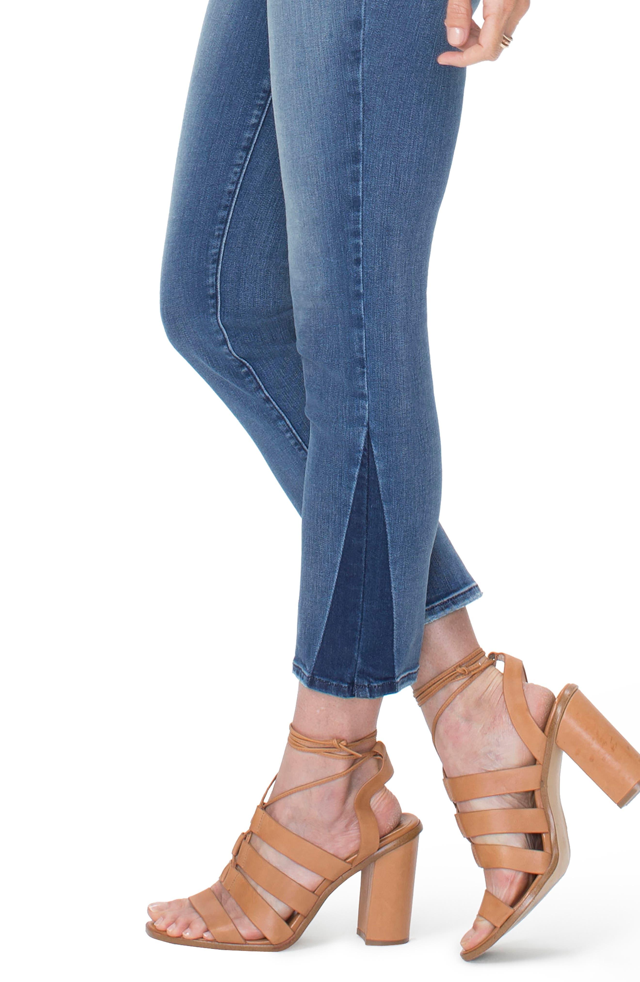 Sheri Slim Shadow Ankle Jeans,                             Alternate thumbnail 3, color,                             Wishful