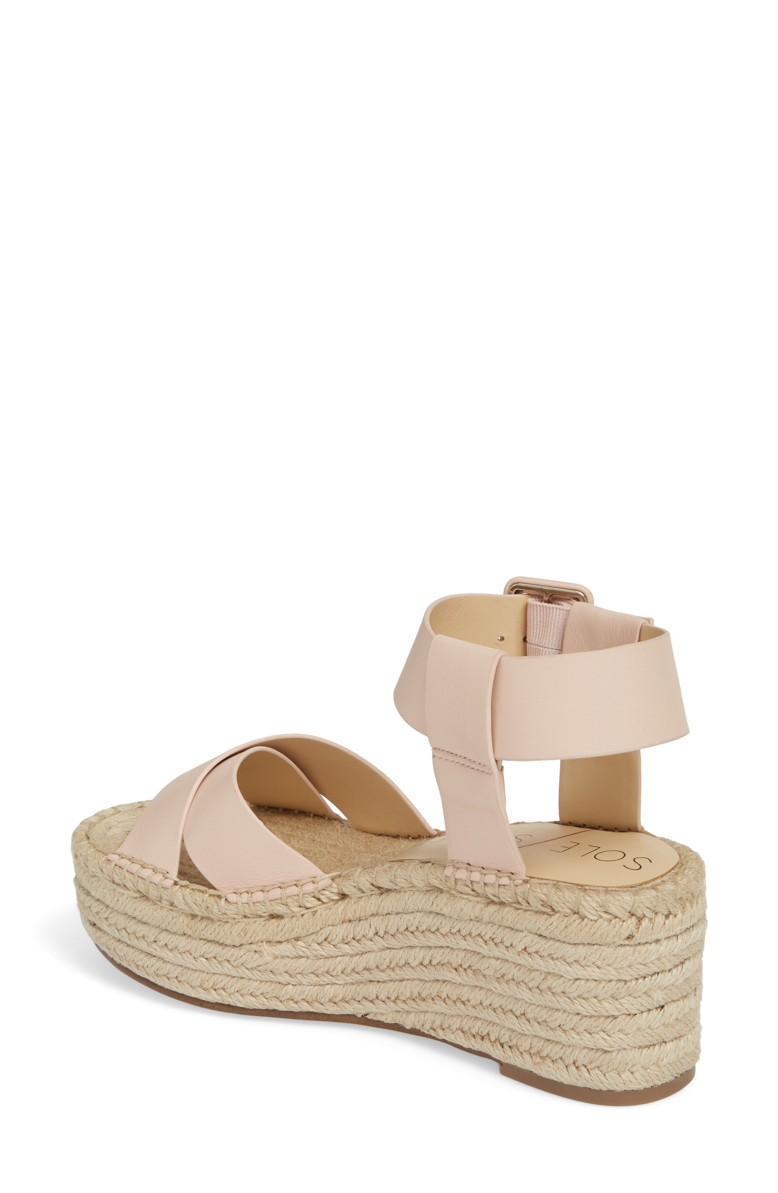 'Audrina' Platform Espadrille Sandal,                             Alternate thumbnail 2, color,                             Rose Blush