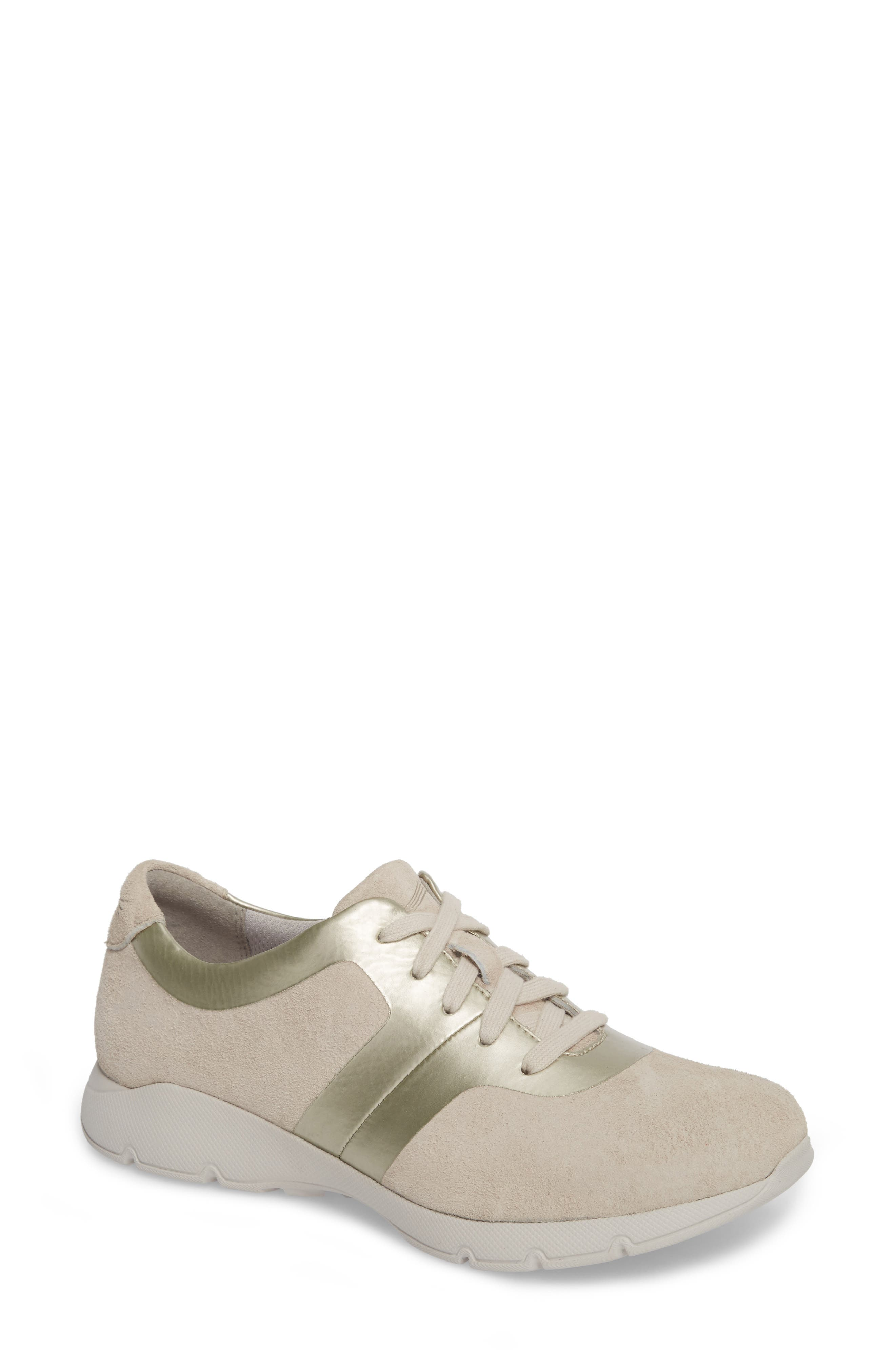 Andi Sneaker,                         Main,                         color, Ivory Leather