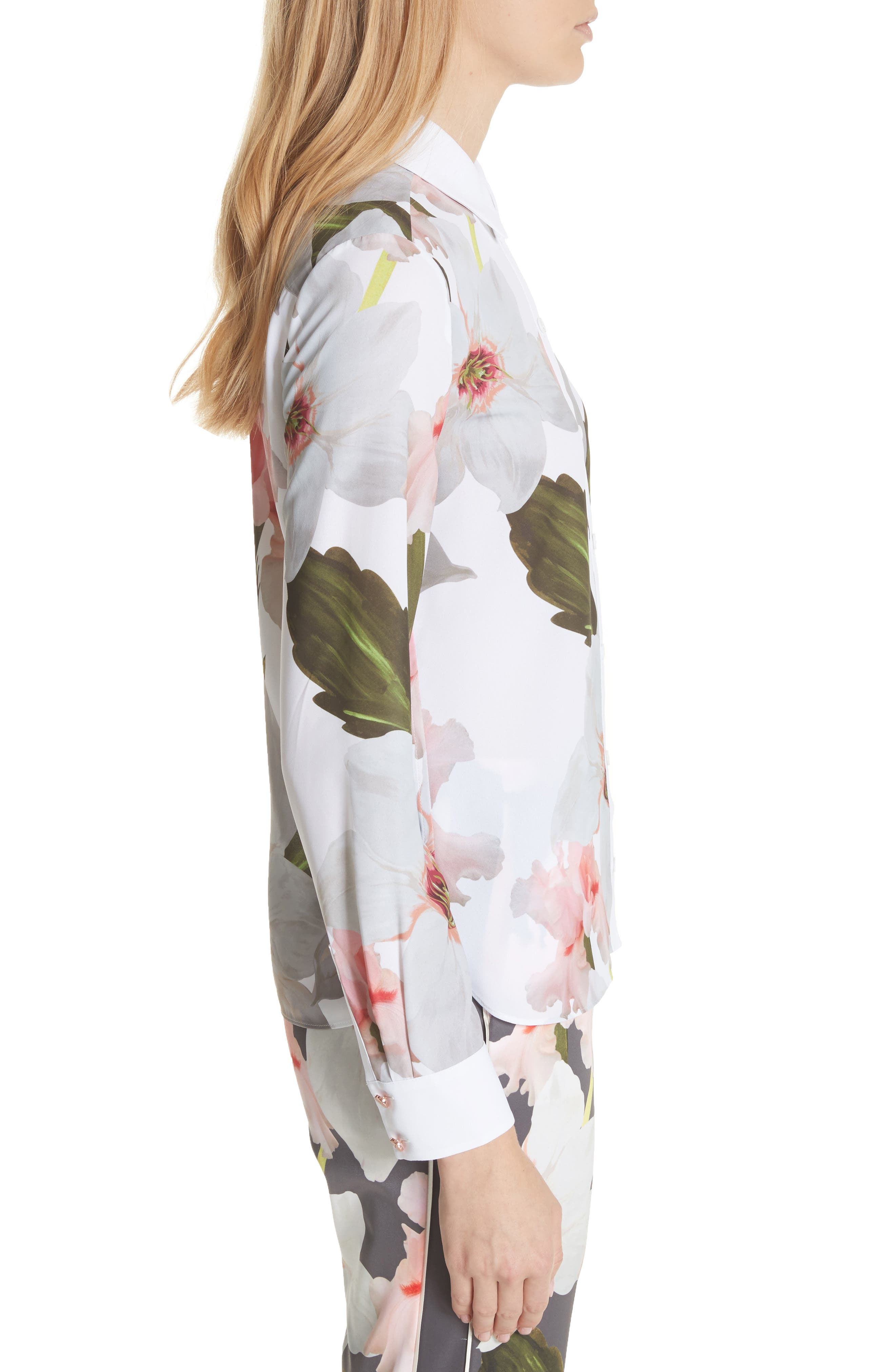 Chatsworth Bloom Shirt,                             Alternate thumbnail 3, color,                             White