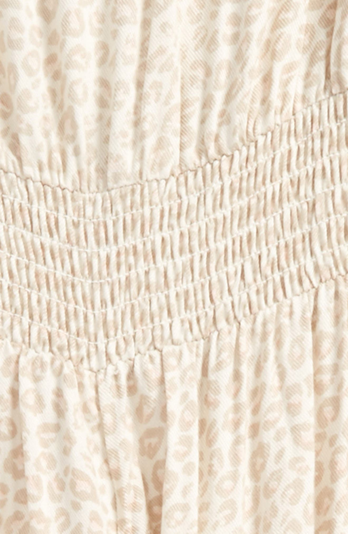 Kimmy Leopard Print Jumpsuit,                             Alternate thumbnail 2, color,                             Naked