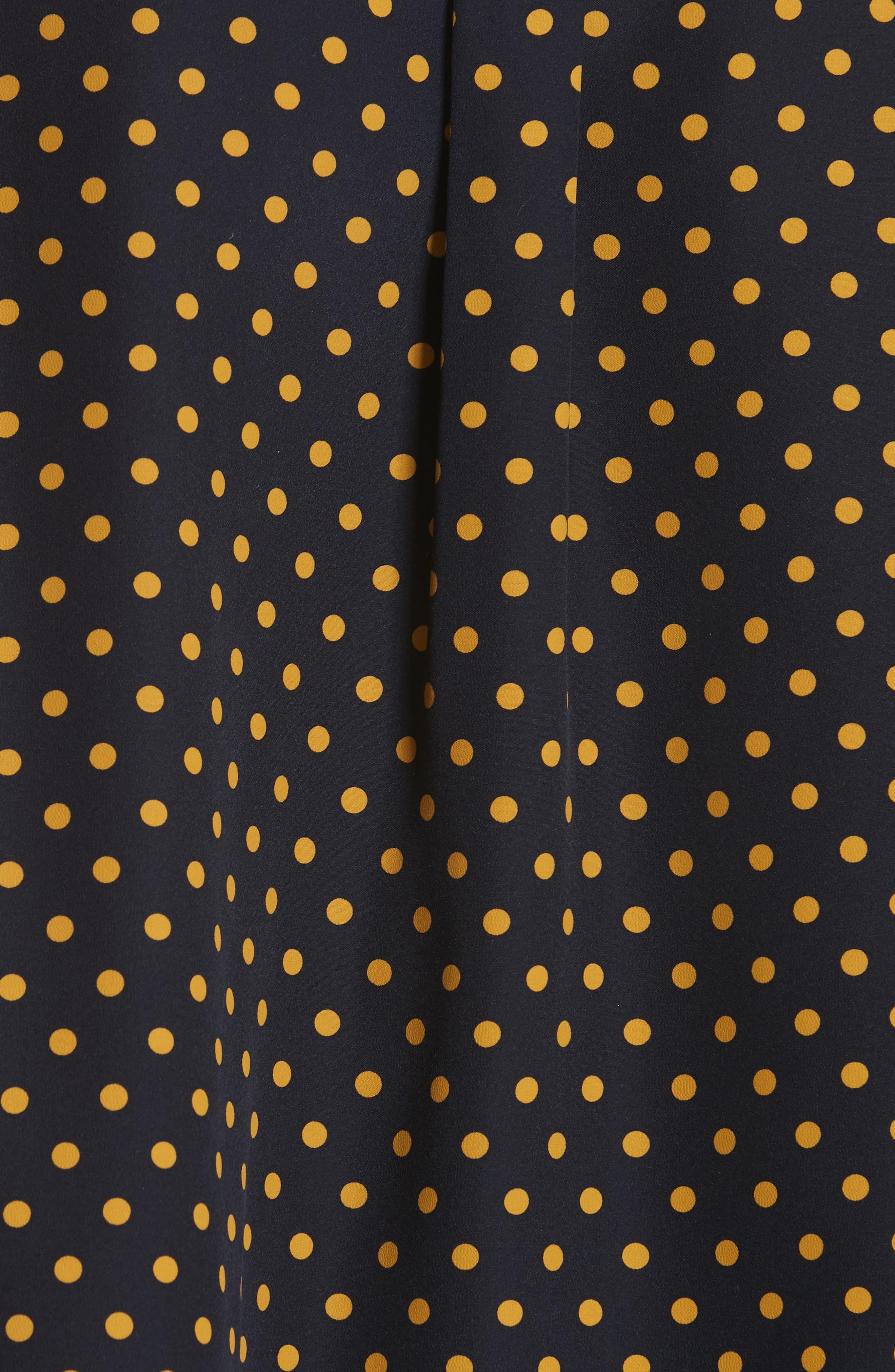 Garcon-Laura Dotted Silk Shirt,                             Alternate thumbnail 5, color,                             Navy