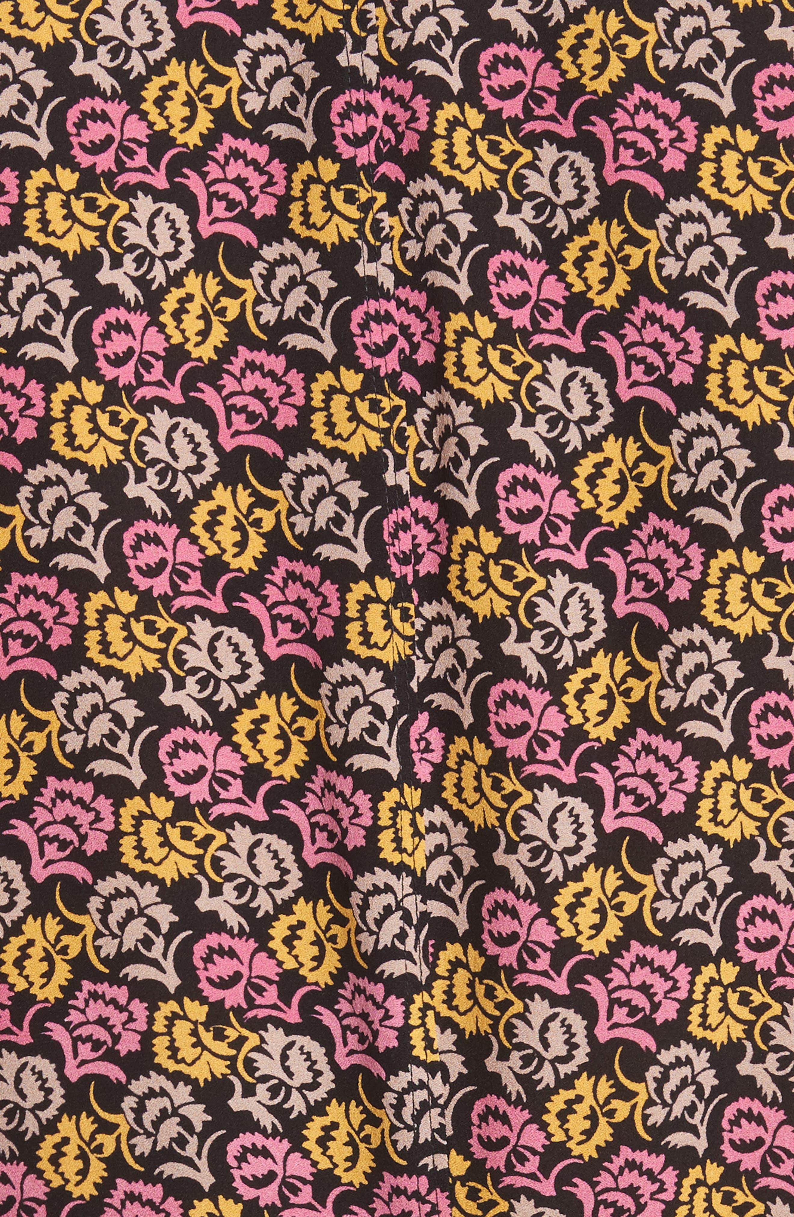 Whitney Bell Sleeve Silk Wrap Dress,                             Alternate thumbnail 5, color,                             Pink Multi