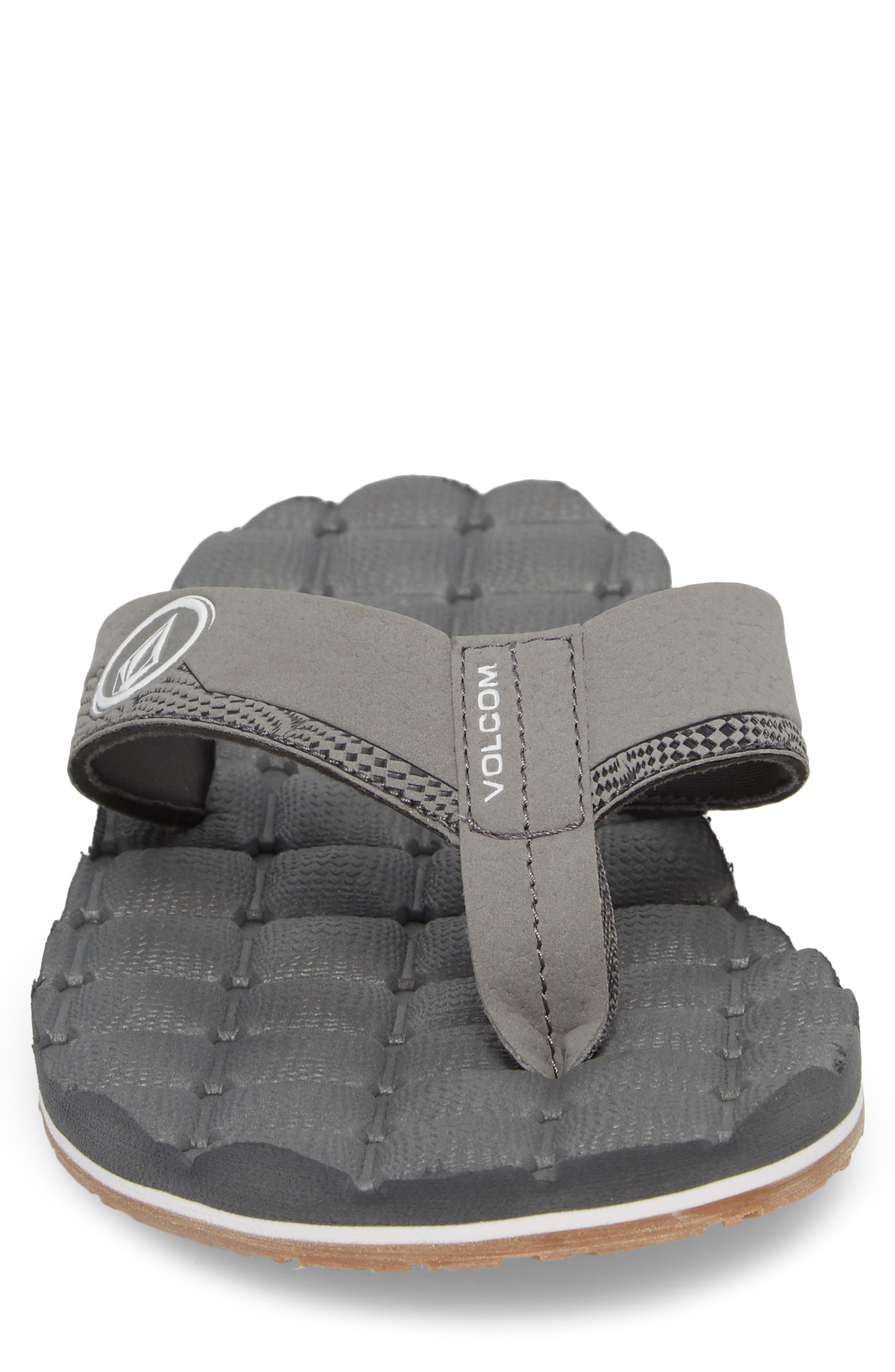 'Recliner' Flip Flop,                             Alternate thumbnail 4, color,                             Light Grey