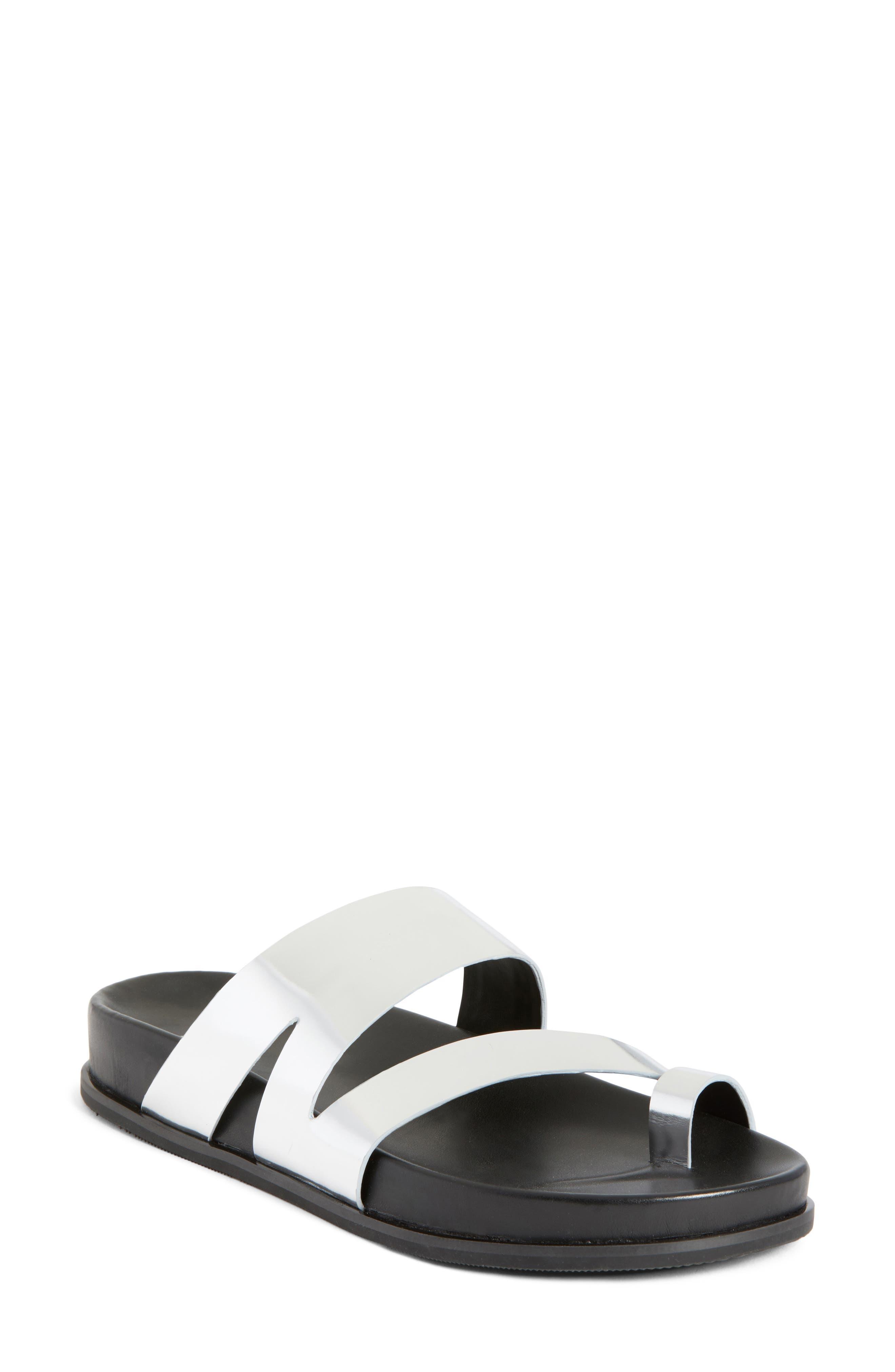 Yamini Sandal,                         Main,                         color, Silver Leather