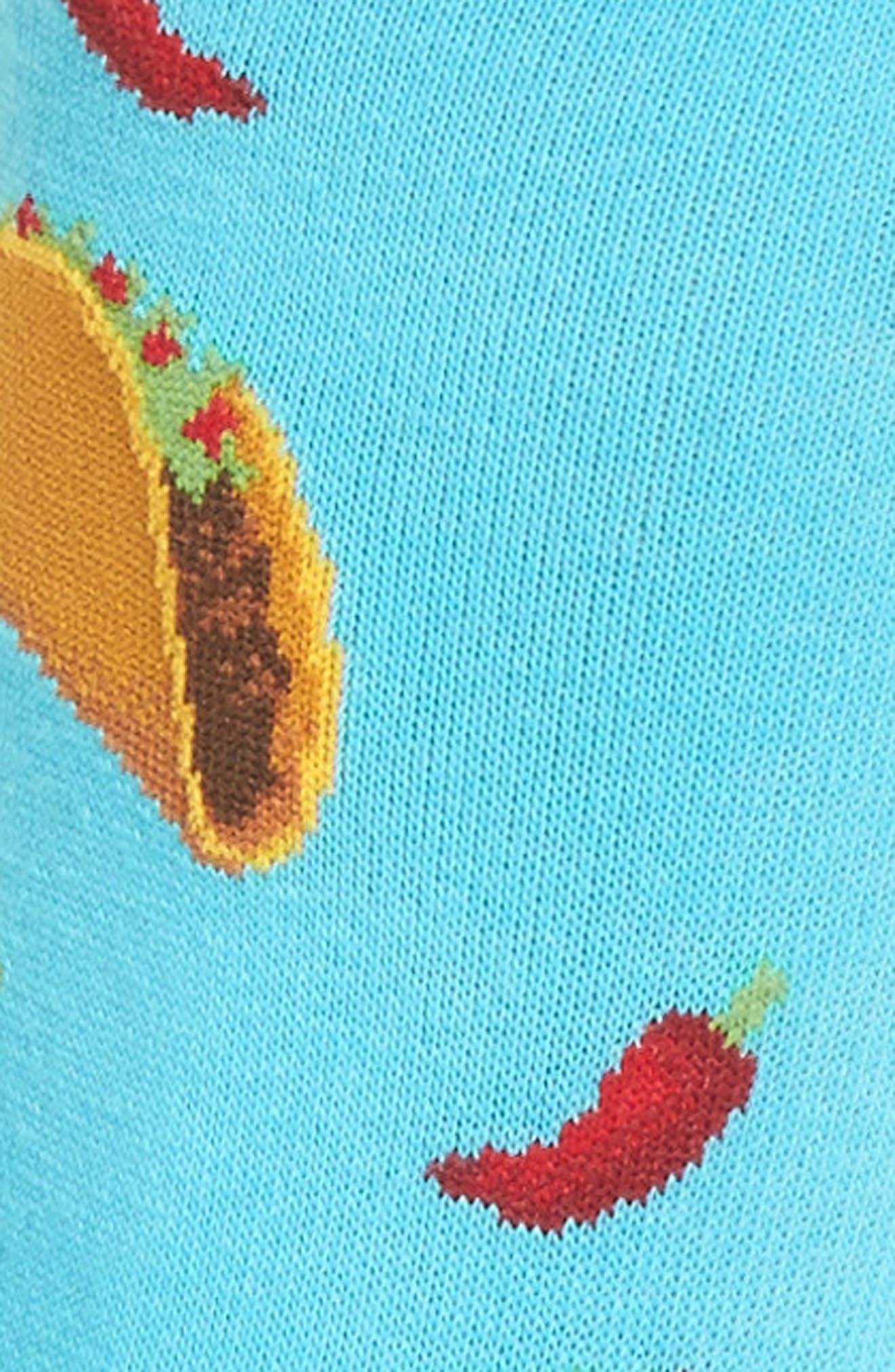Taco Crew Socks,                             Alternate thumbnail 2, color,                             Light Blue