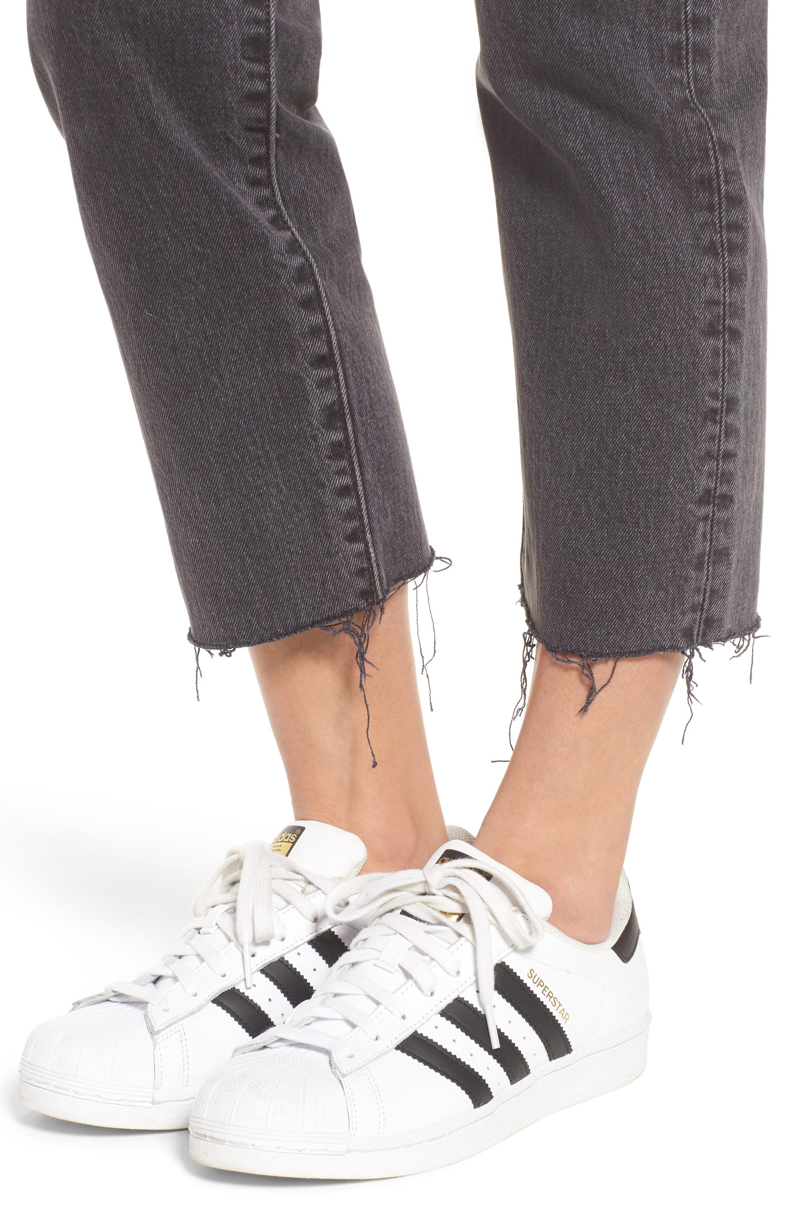 Wedgie High Waist Ankle Straight Leg Jeans,                             Alternate thumbnail 9, color,                             That Girl
