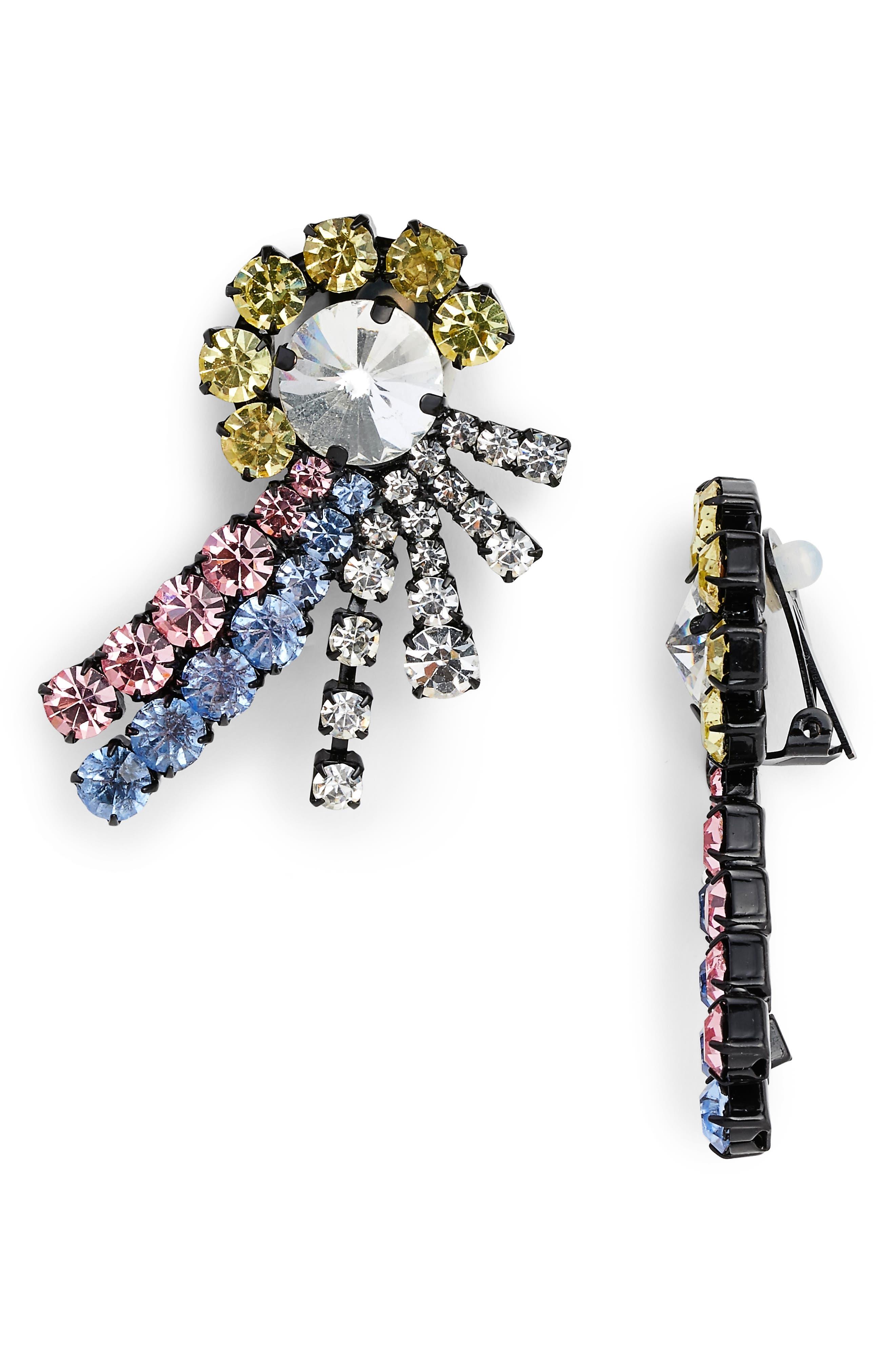 Katie Crystal Earrings,                         Main,                         color, Pink/Blue