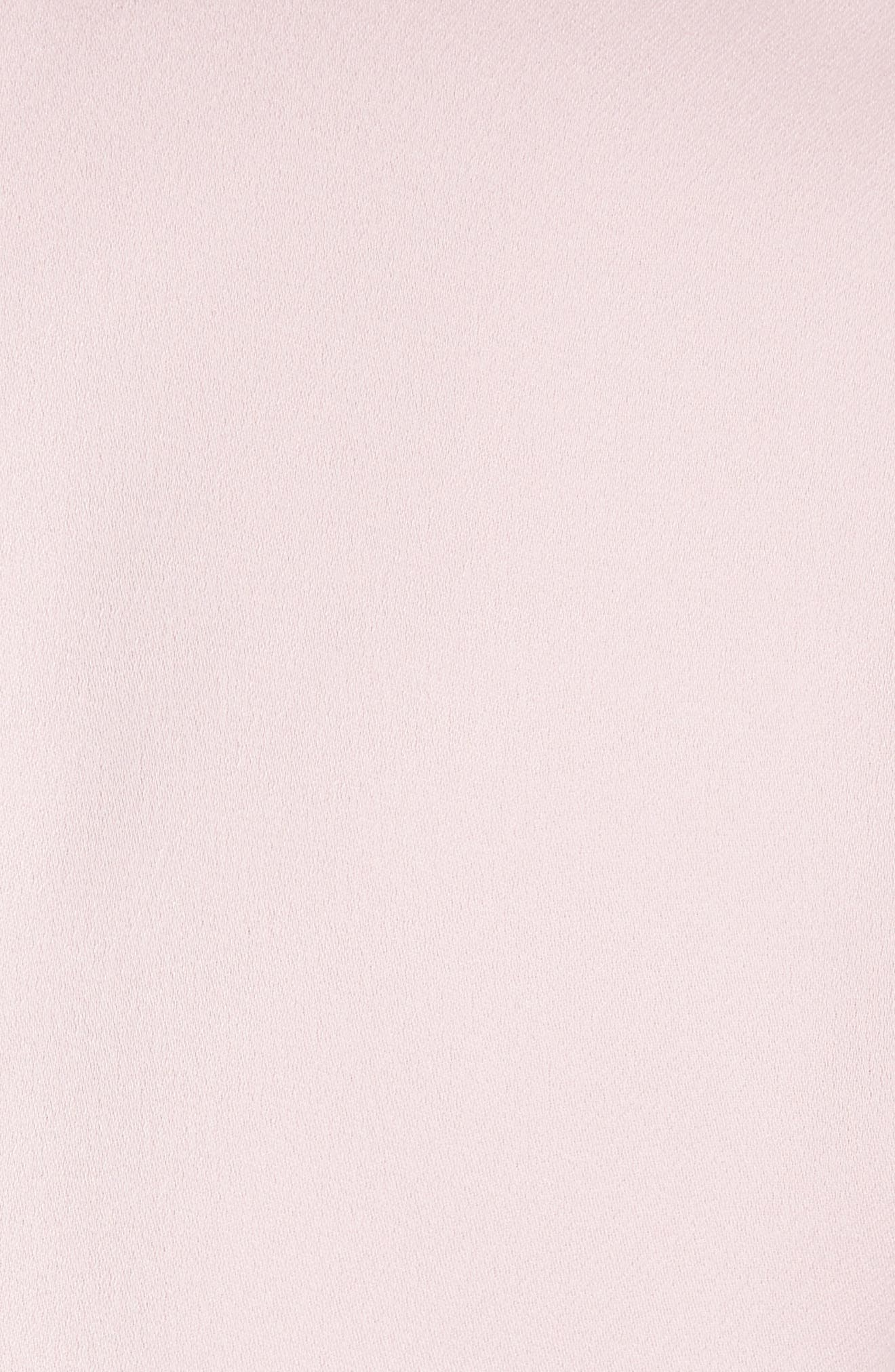 Embellished Neck Top,                             Alternate thumbnail 5, color,                             Dusky Pink