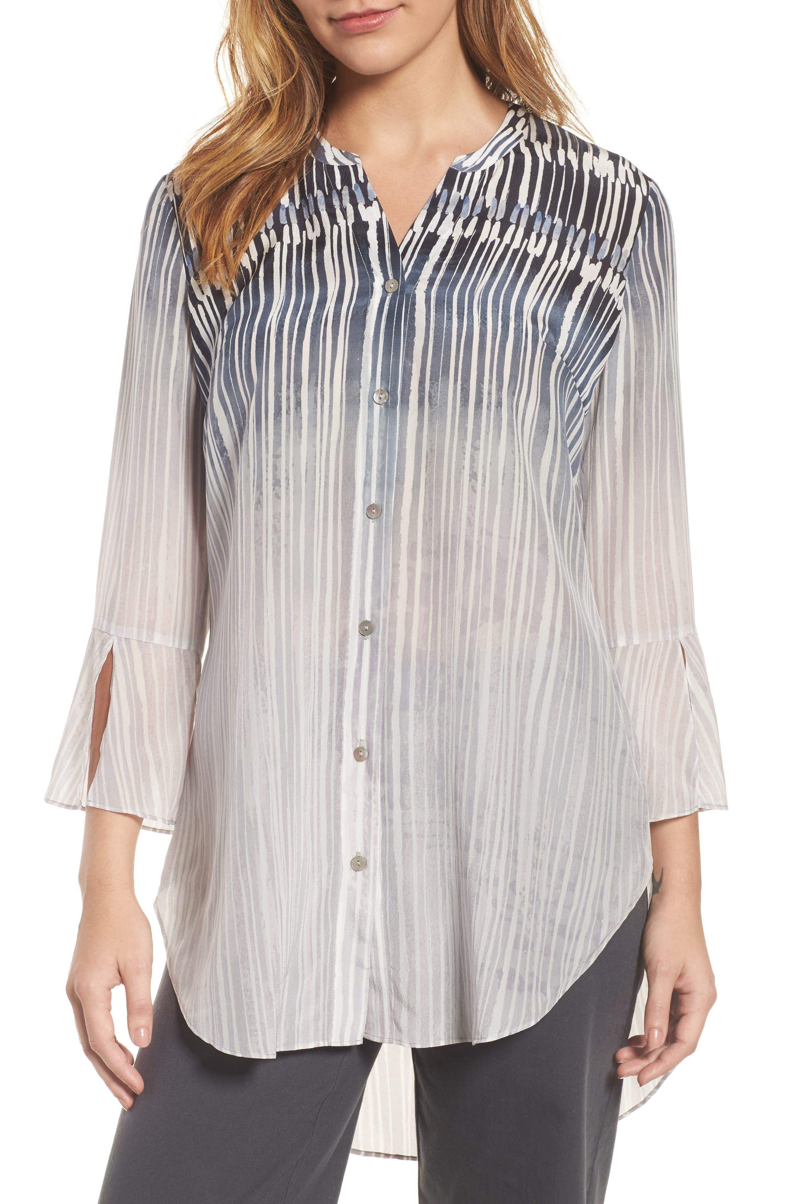 Horizon Silk Blend Tunic,                         Main,                         color, Multi