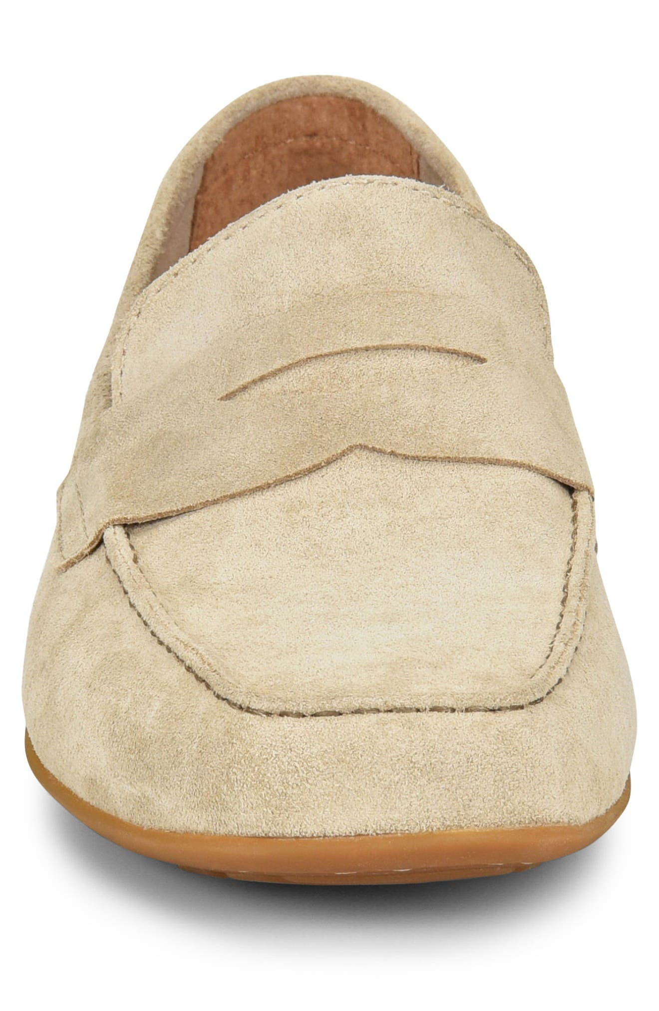 'Dave' Penny Loafer,                             Alternate thumbnail 4, color,                             Natural Suede