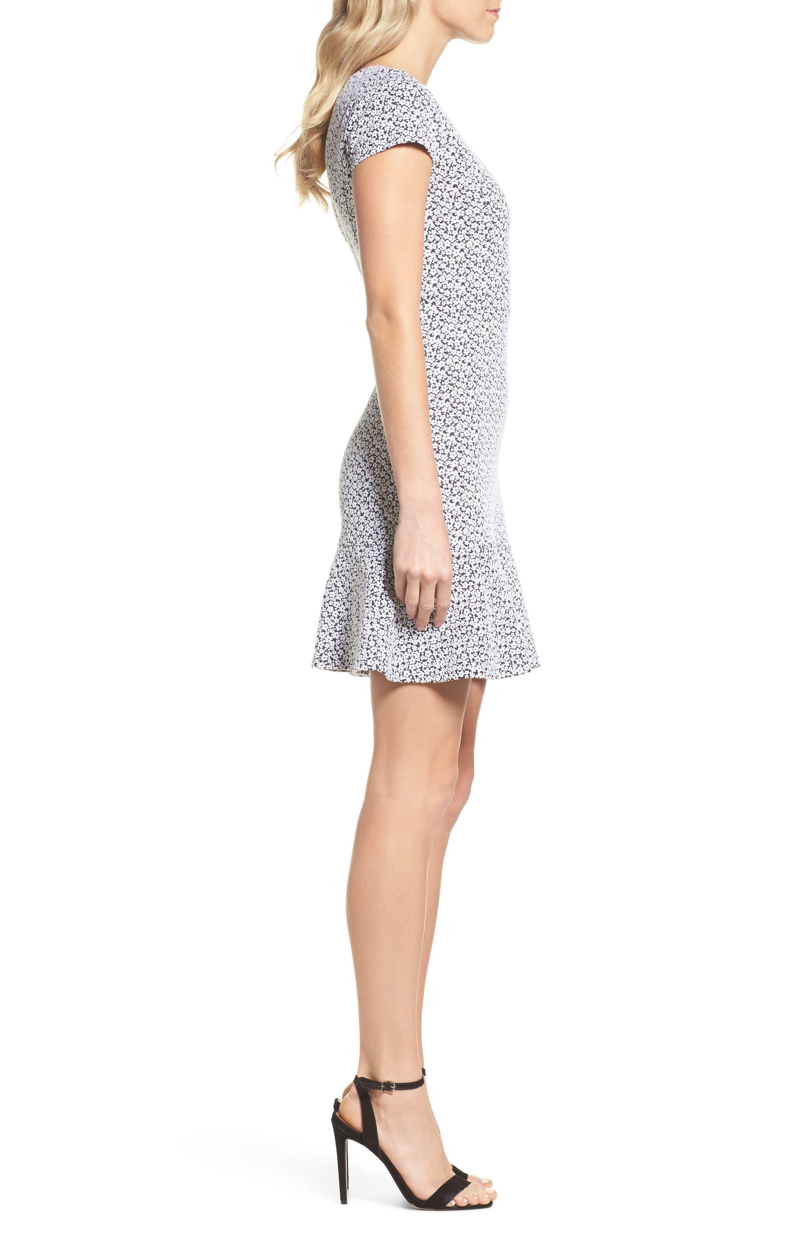 Alternate Image 3  - MICHAEL Michael Kors Floral Knit Jacquard Flounce Dress