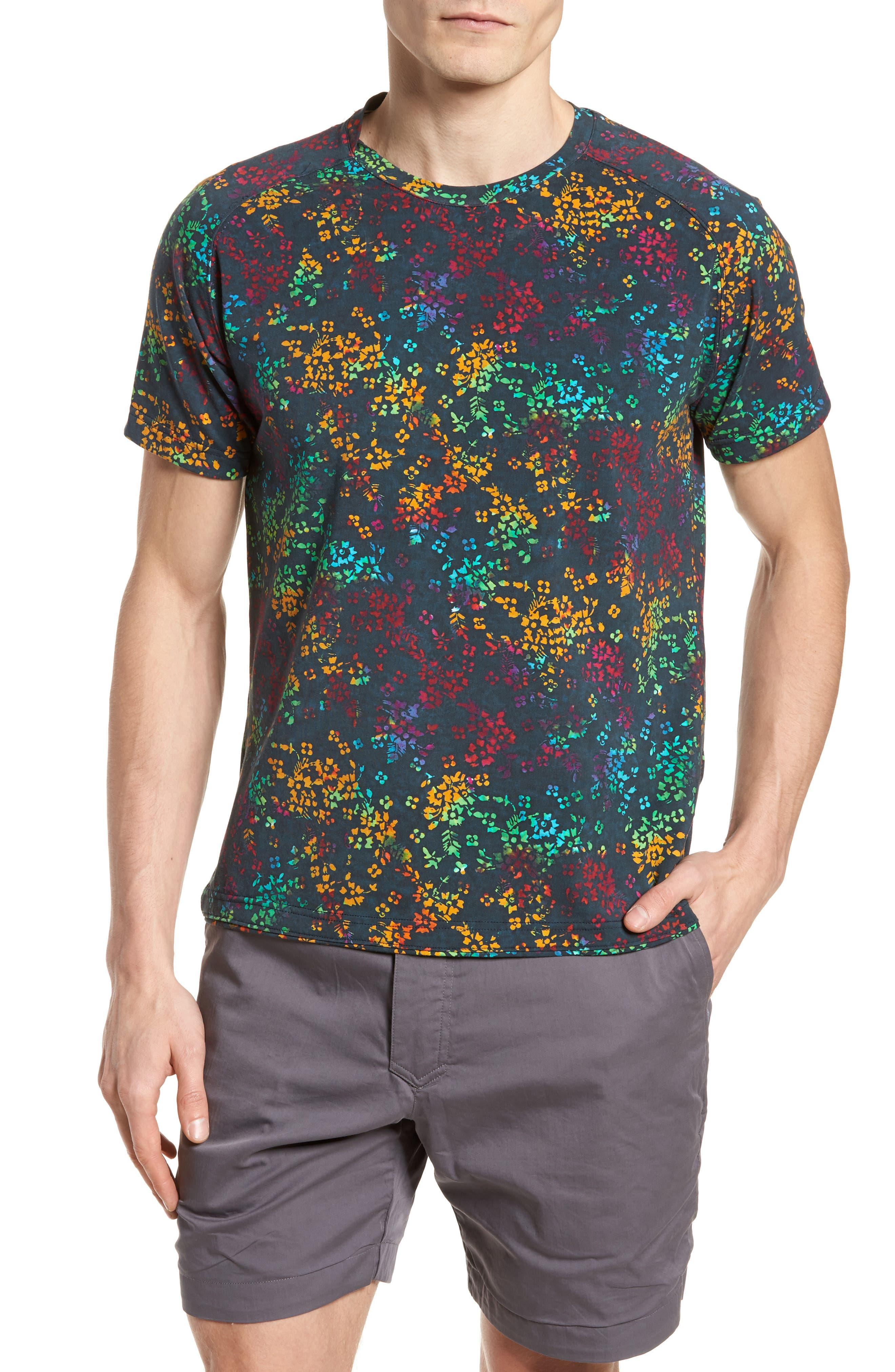 Explorer Print T-Shirt,                             Main thumbnail 1, color,                             Navy Multi