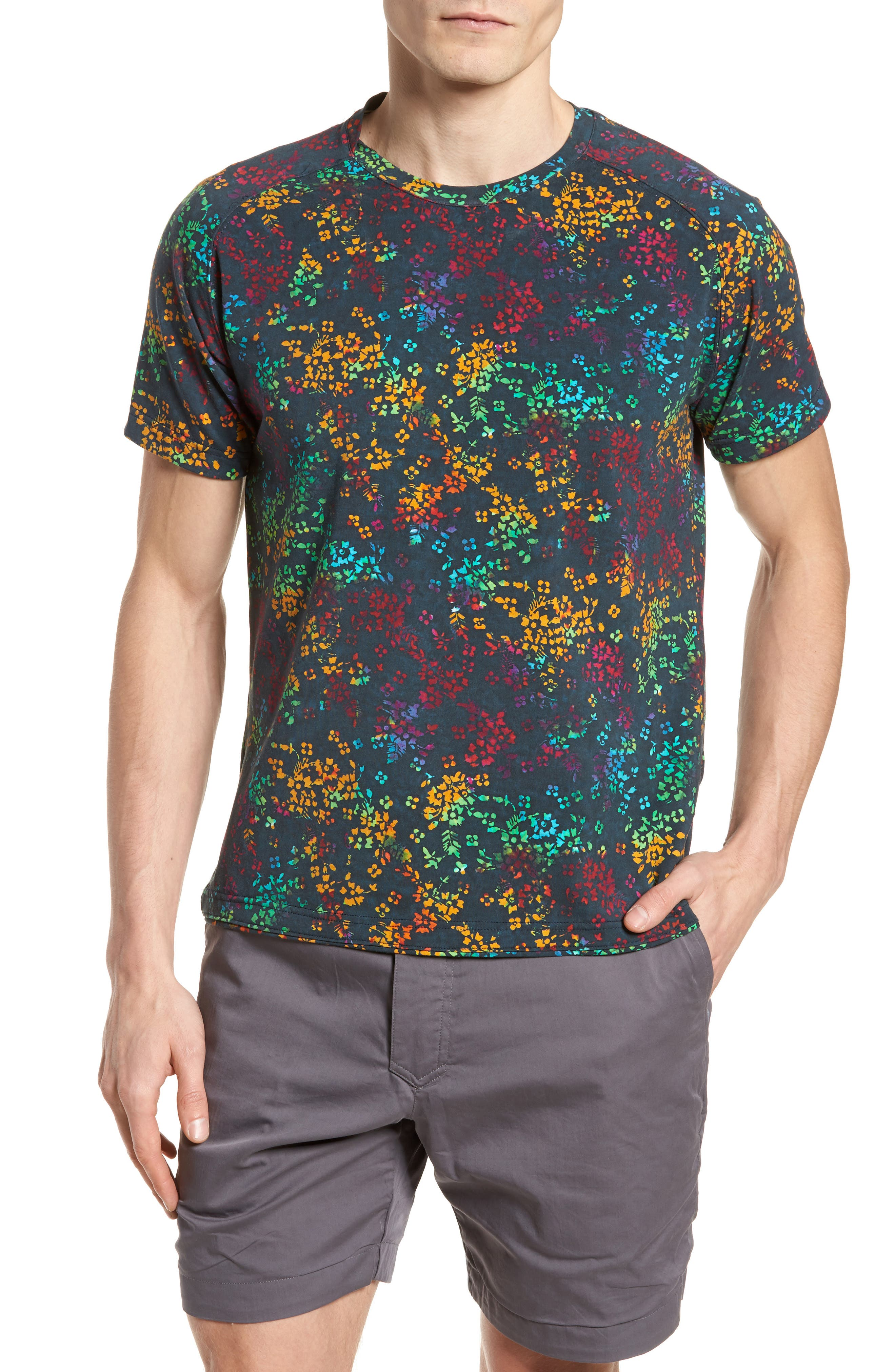 Explorer Print T-Shirt,                         Main,                         color, Navy Multi