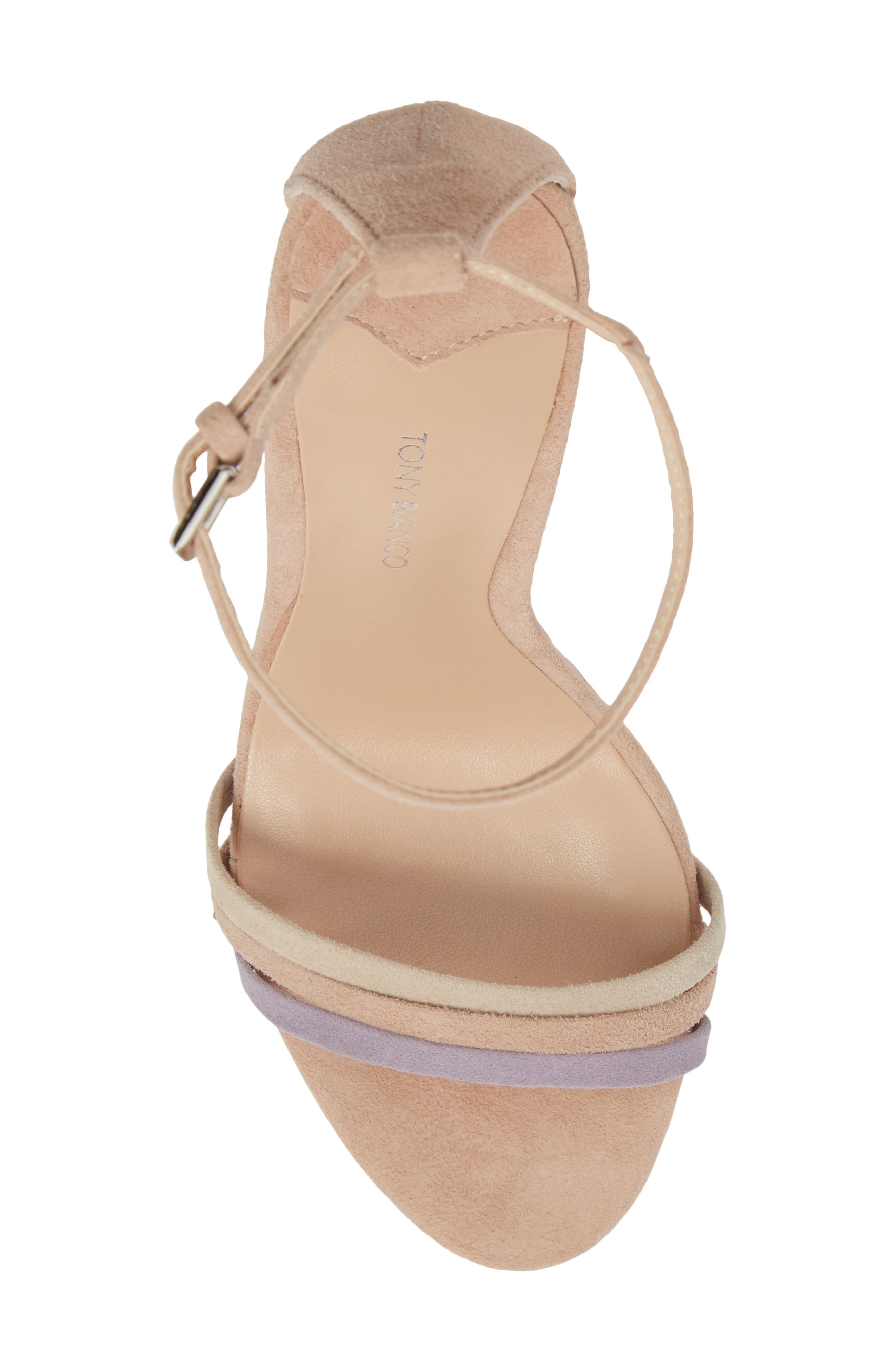 Aroma Strappy Sandal,                             Alternate thumbnail 5, color,                             Blush Suede