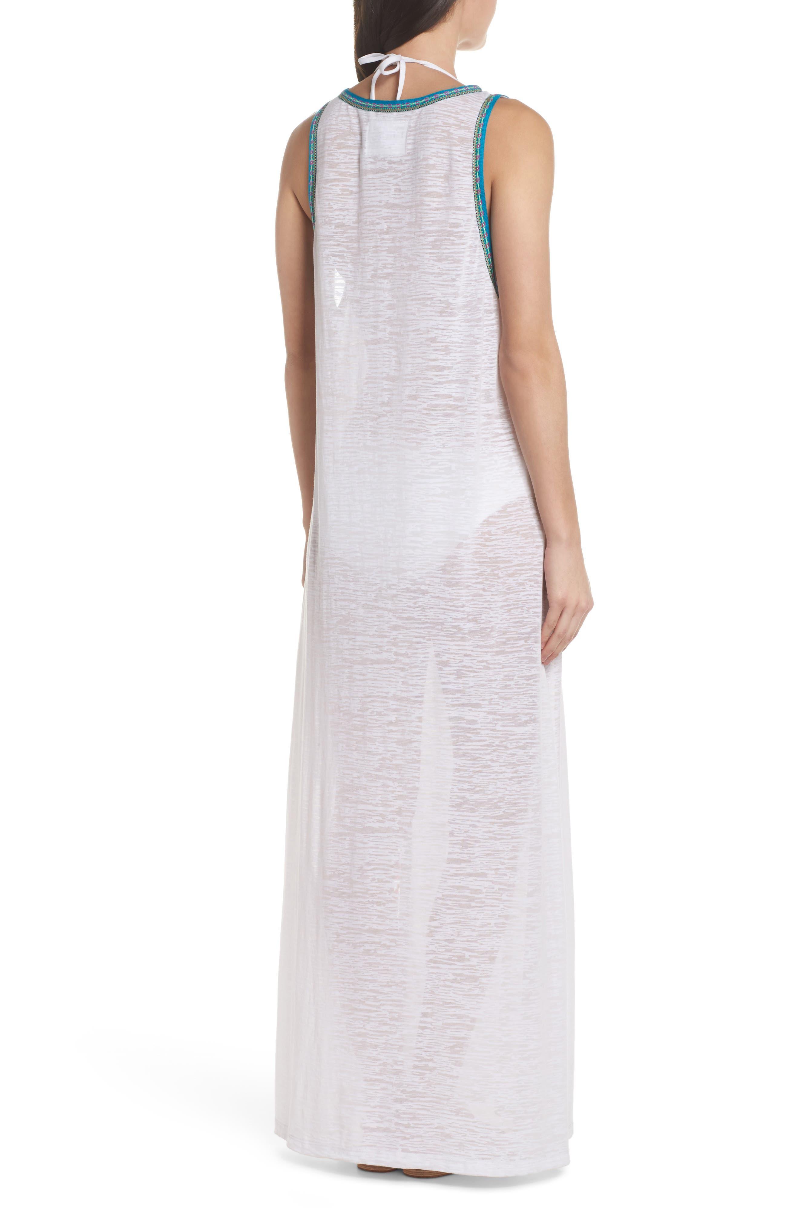 Tassel Slit Cover-Up Maxi Dress,                             Alternate thumbnail 2, color,                             White