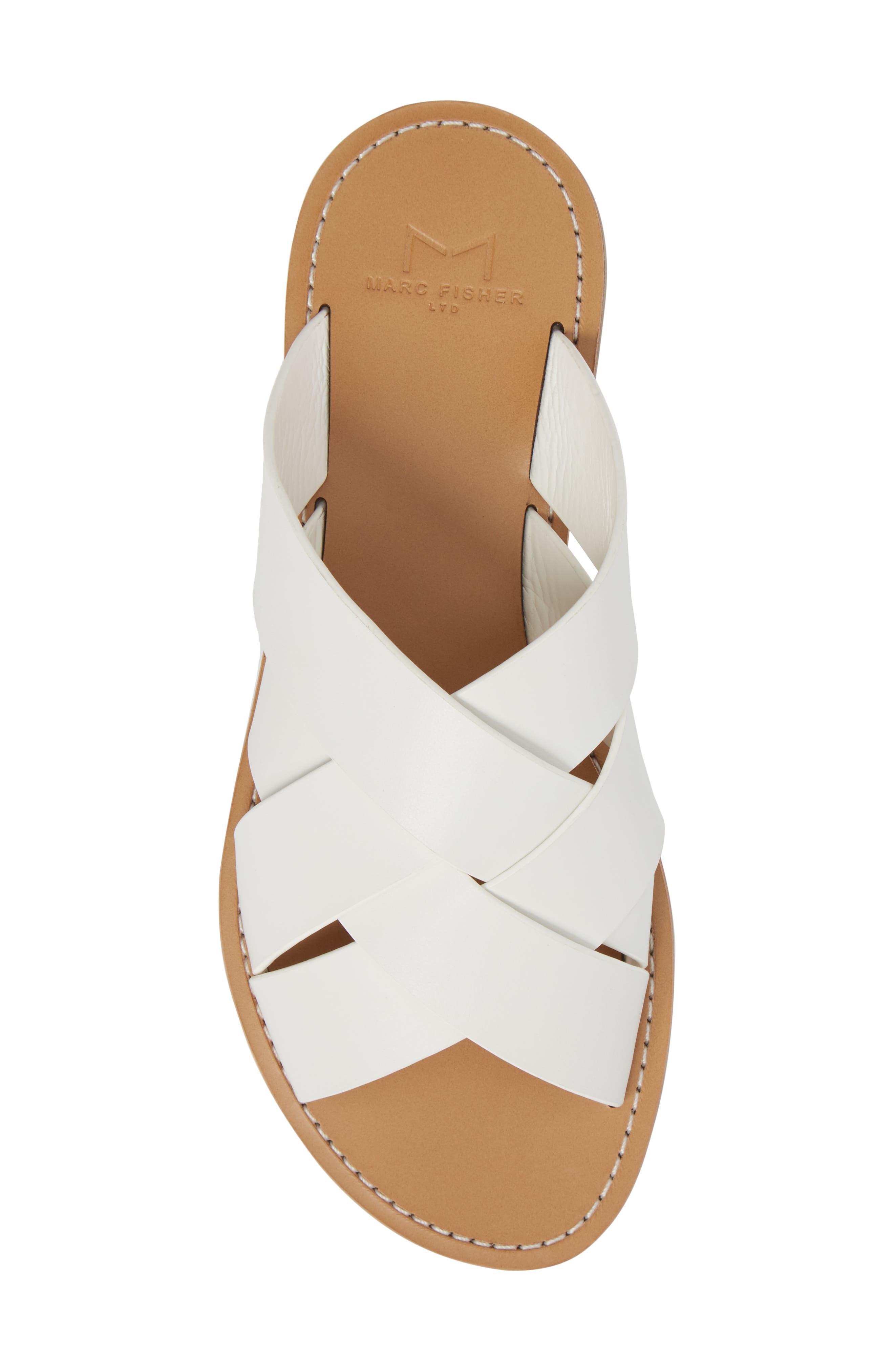 Raida Slide Sandal,                             Alternate thumbnail 5, color,                             White Leather