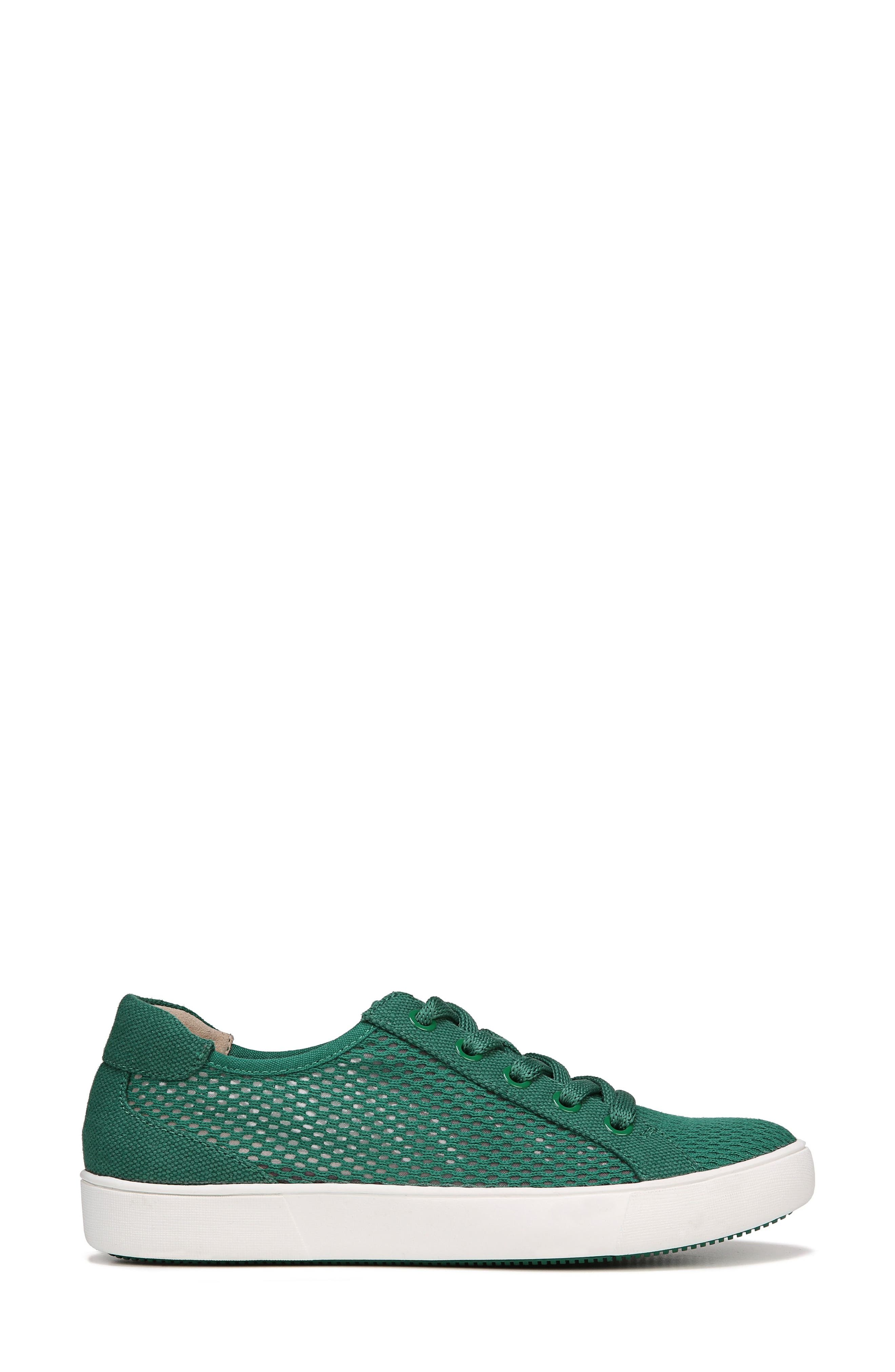 Morrison III Perforated Sneaker,                             Alternate thumbnail 3, color,                             Green Leather