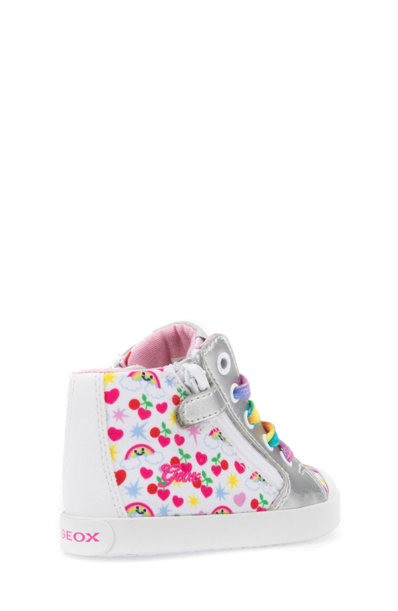 Kilwi Patterned High Top Sneaker,                             Alternate thumbnail 2, color,                             White/ Multicolor