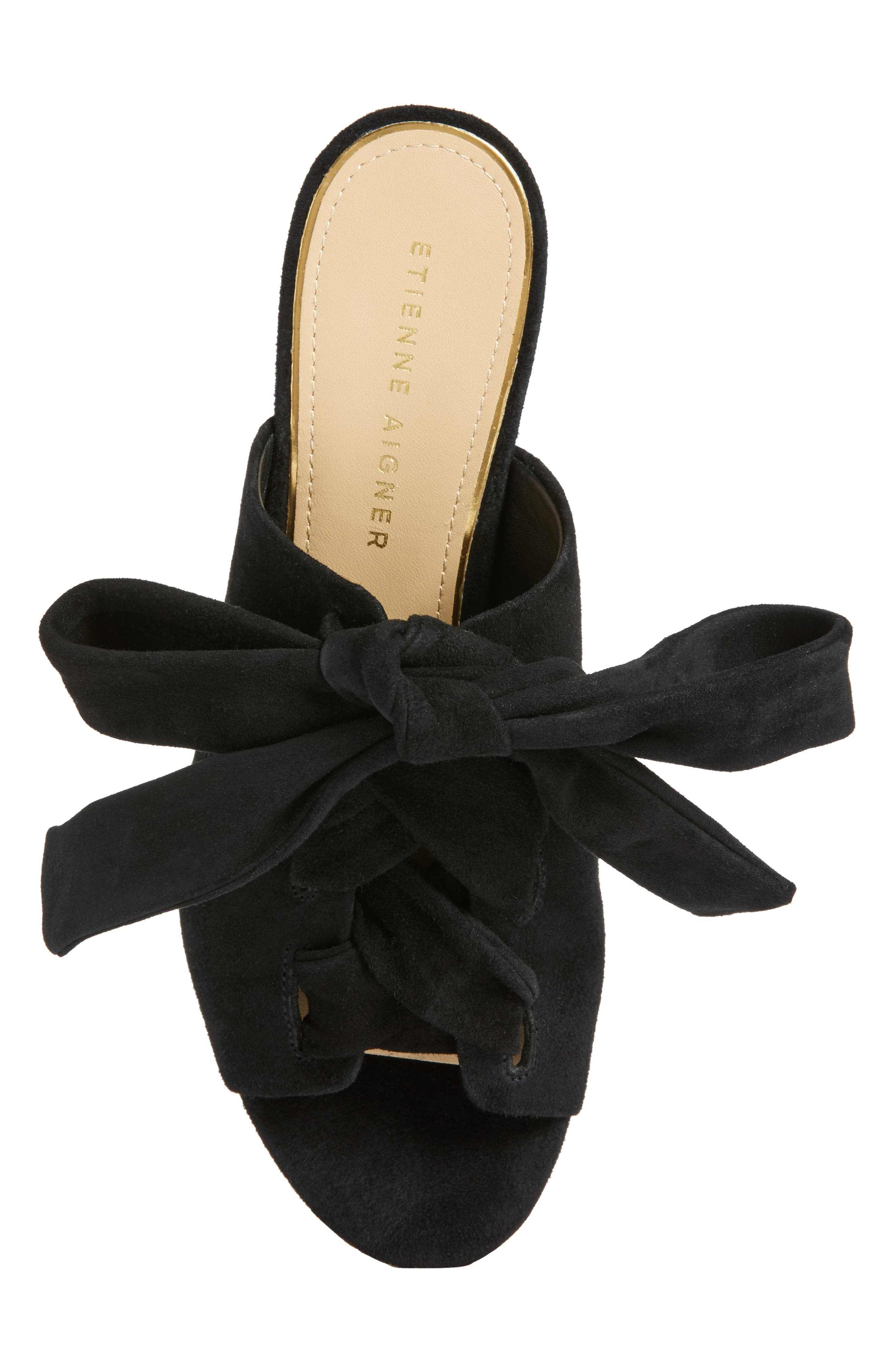 Bermuda Sandal,                             Alternate thumbnail 5, color,                             Black Suede