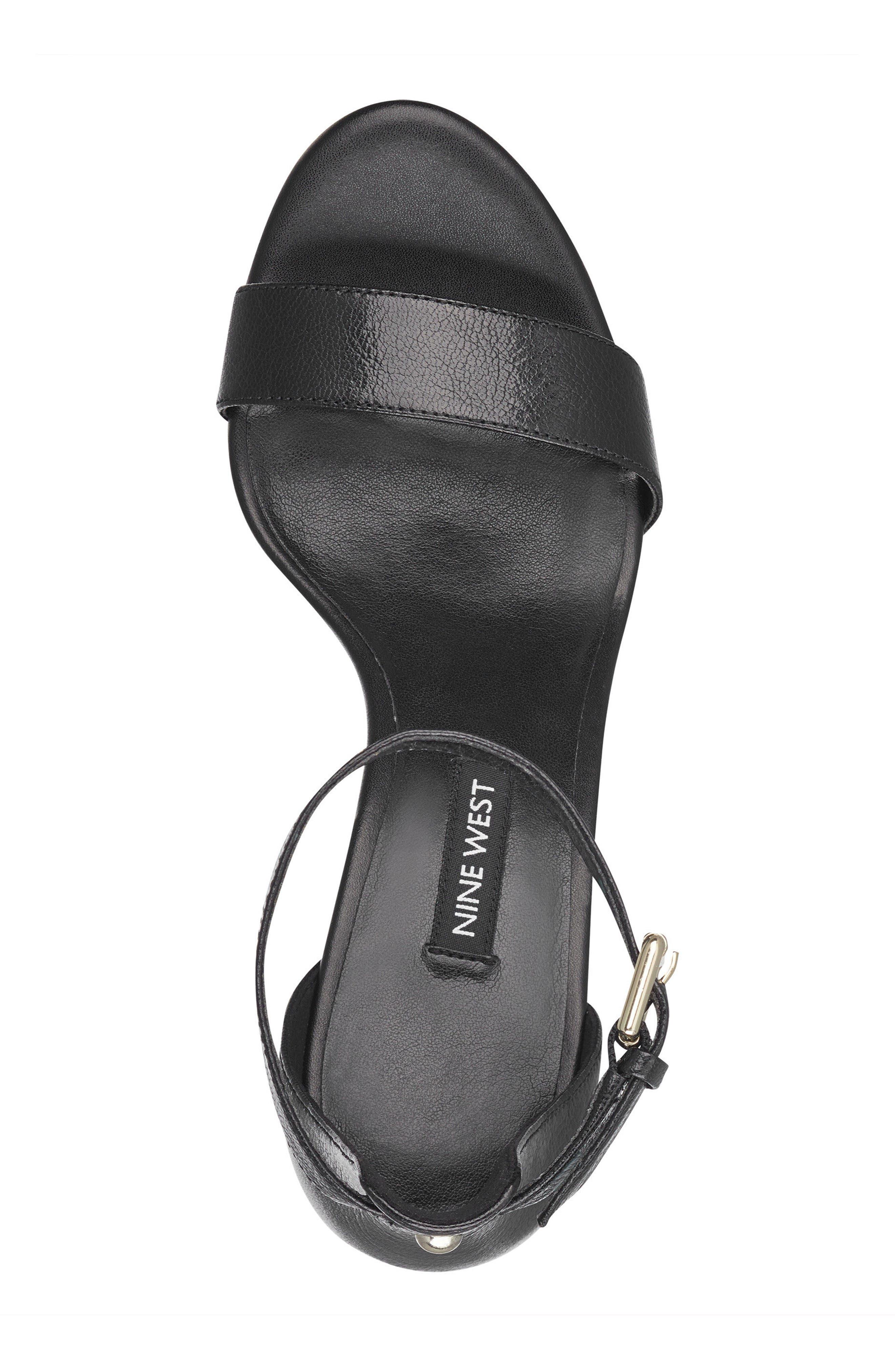 Dempsey Platform Sandal,                             Alternate thumbnail 5, color,                             Black