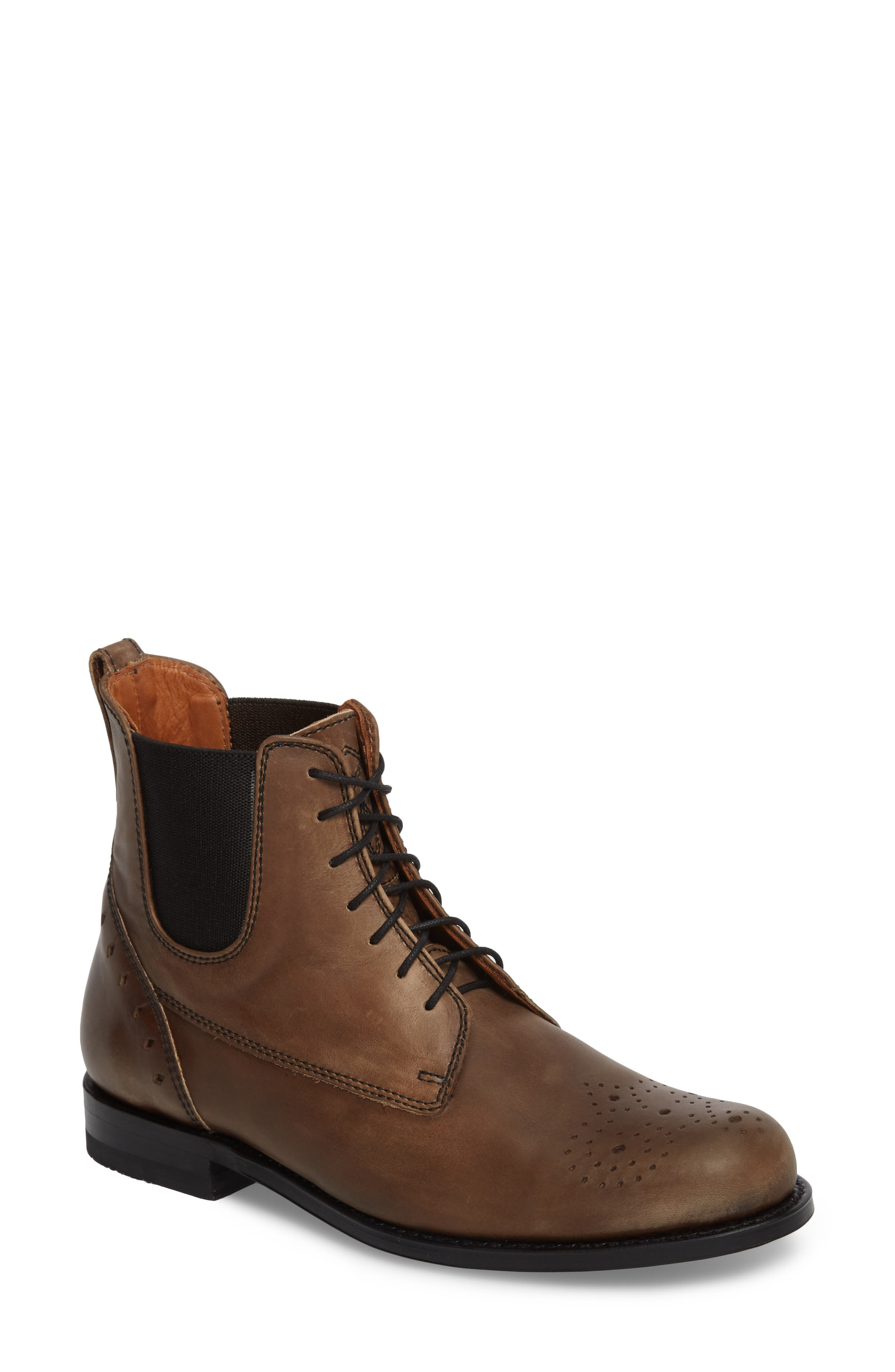 Pedrena Paddock Boot,                             Main thumbnail 1, color,                             Grey Leather