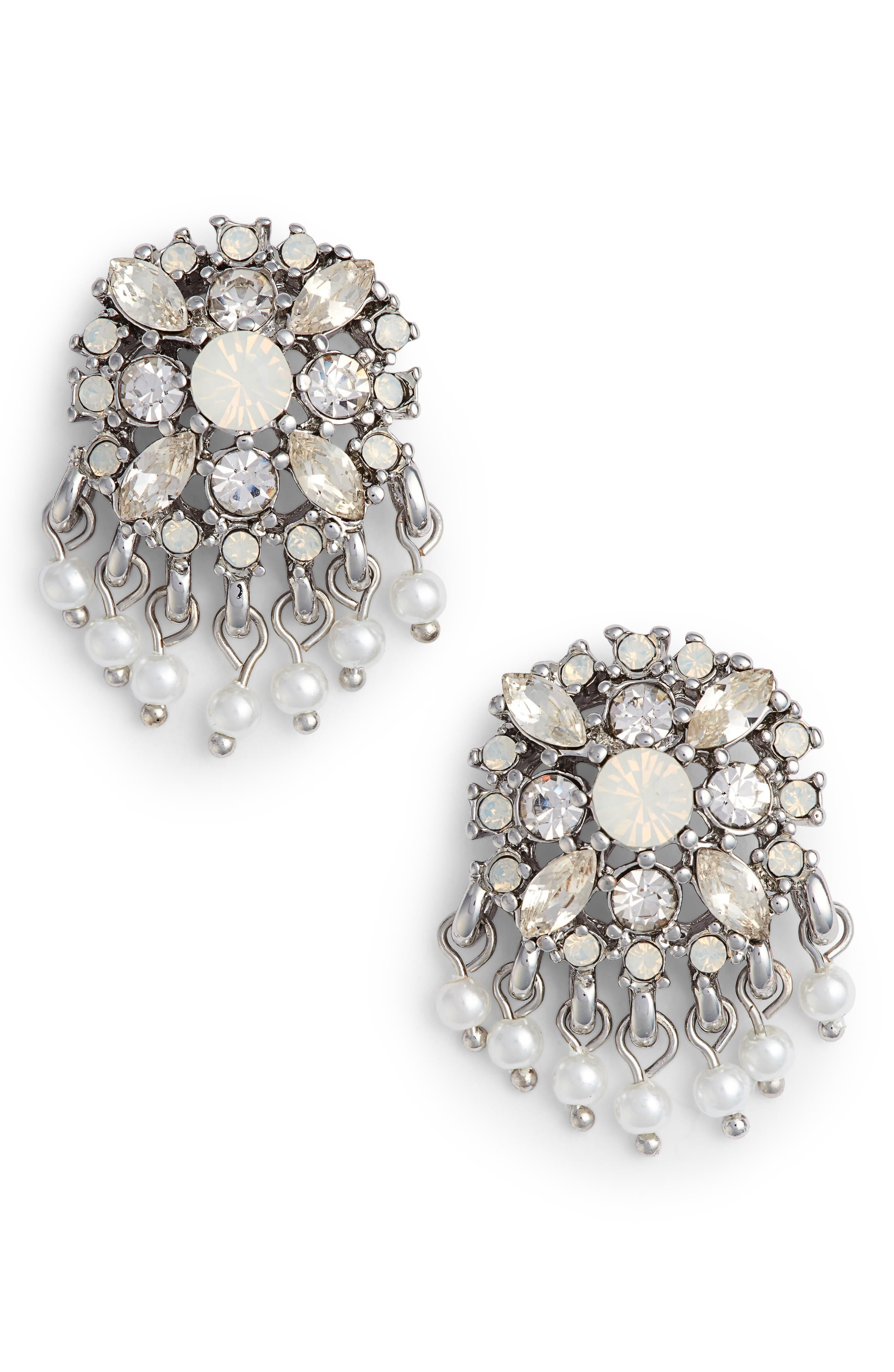 Marchesa Cluster Button Earrings