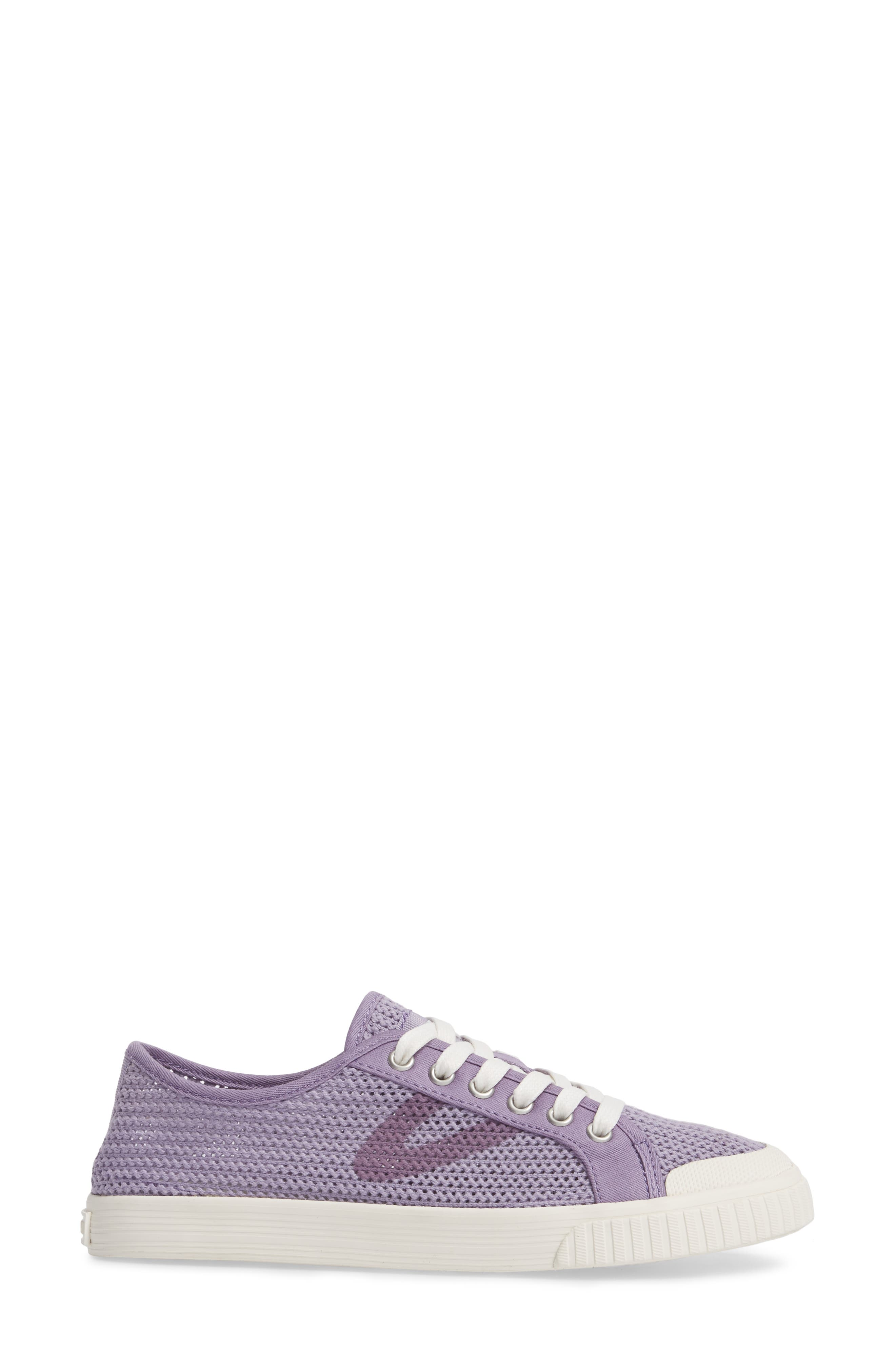 'Tournament Net' Sneaker,                             Alternate thumbnail 3, color,                             Lavender Cotton Mesh