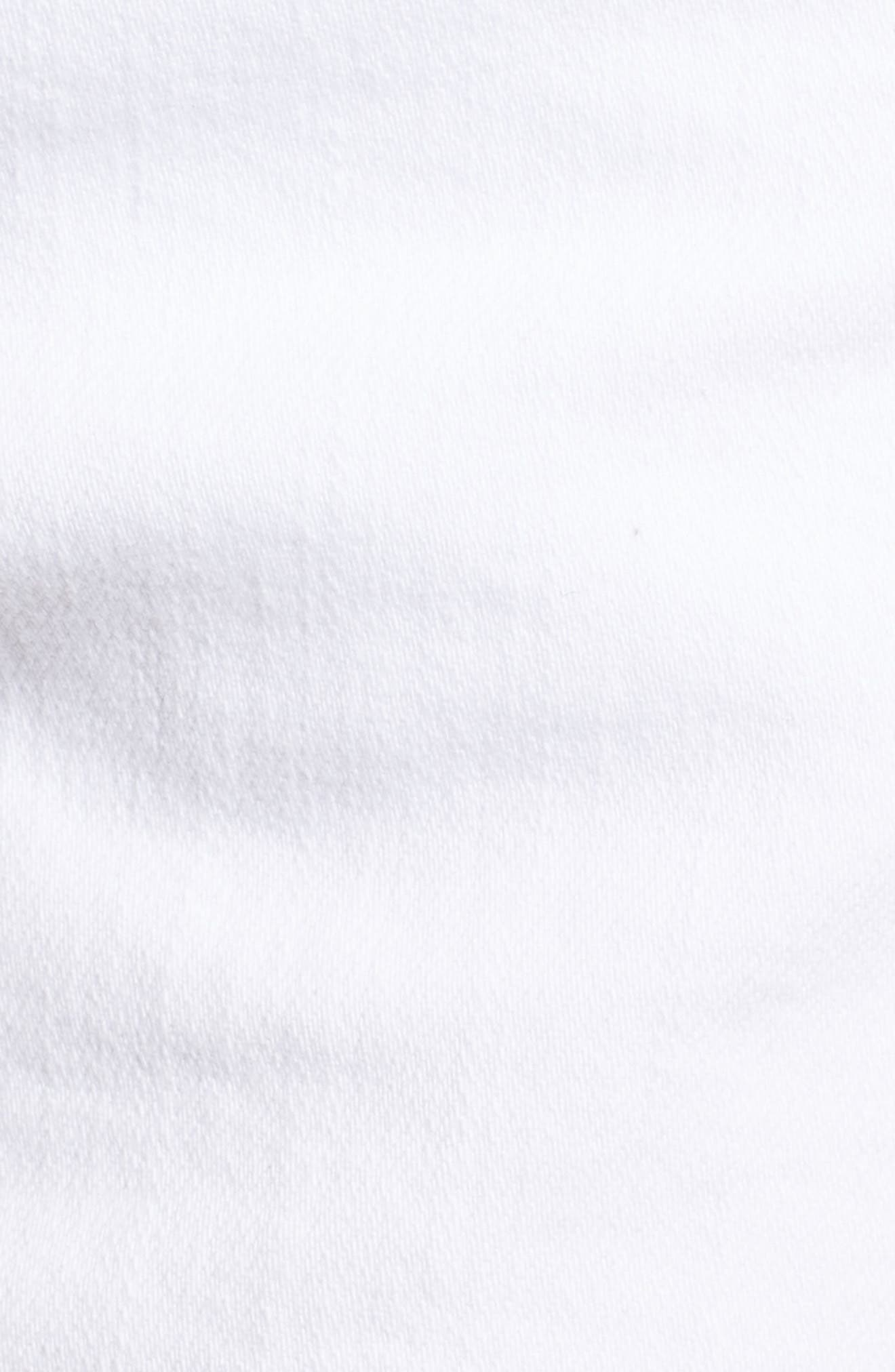 Jimmy Jimmy High Waist Denim Shorts,                             Alternate thumbnail 6, color,                             Crisp White