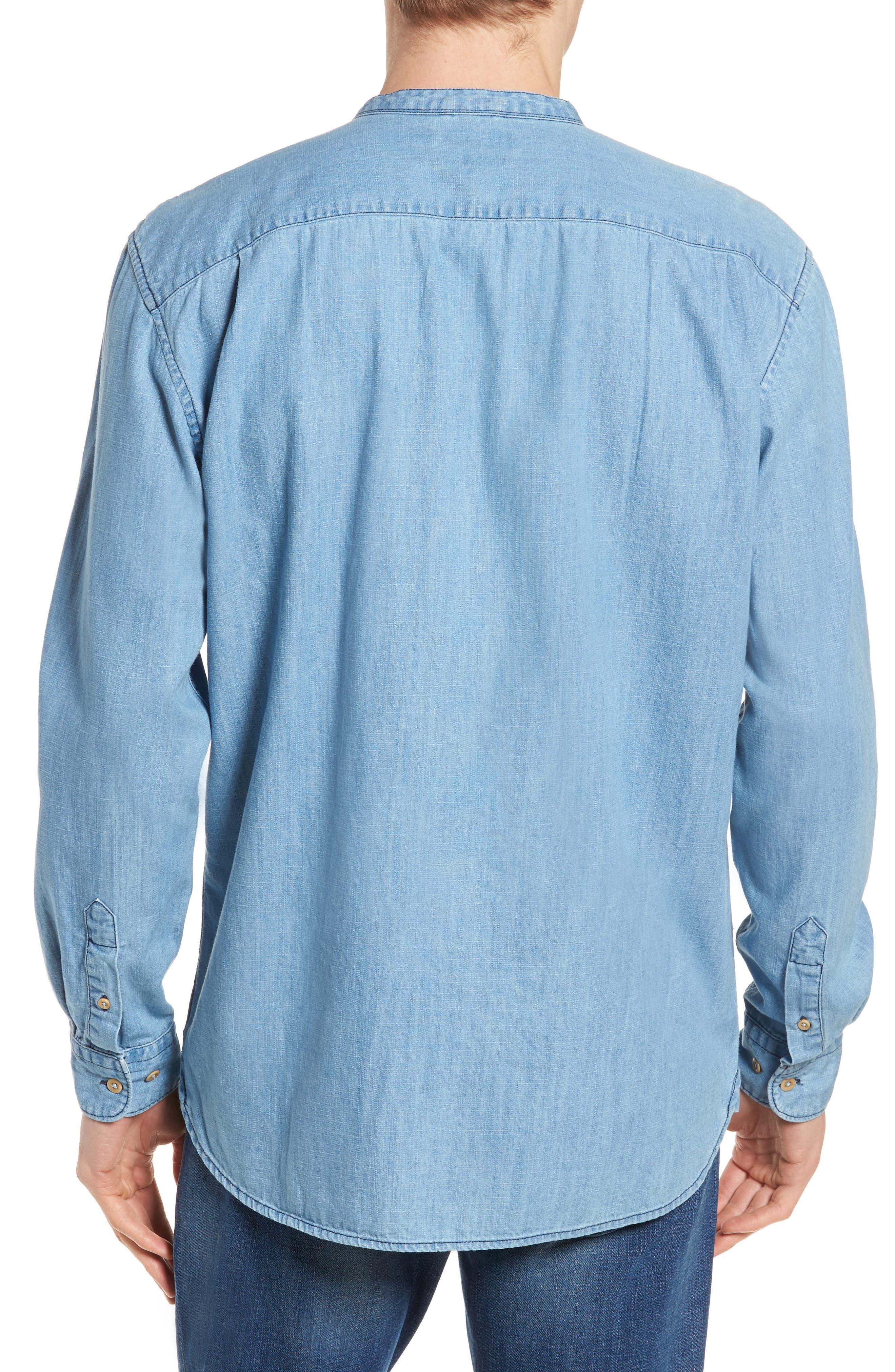 Core Denim Regular Fit Sport Shirt,                             Alternate thumbnail 2, color,                             Bleach