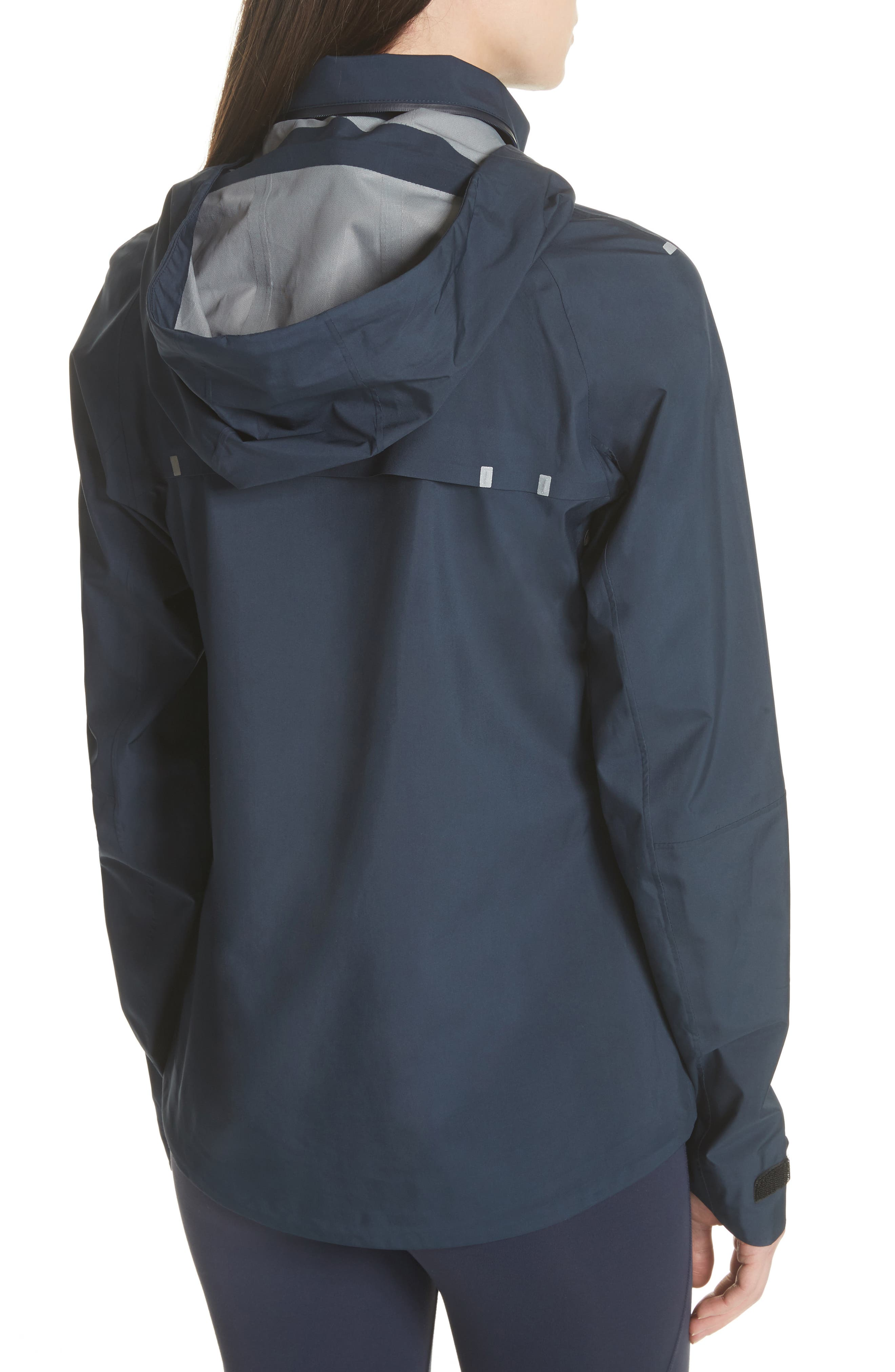 All Weather Run Jacket,                             Alternate thumbnail 3, color,                             Tory Navy/ White Snow