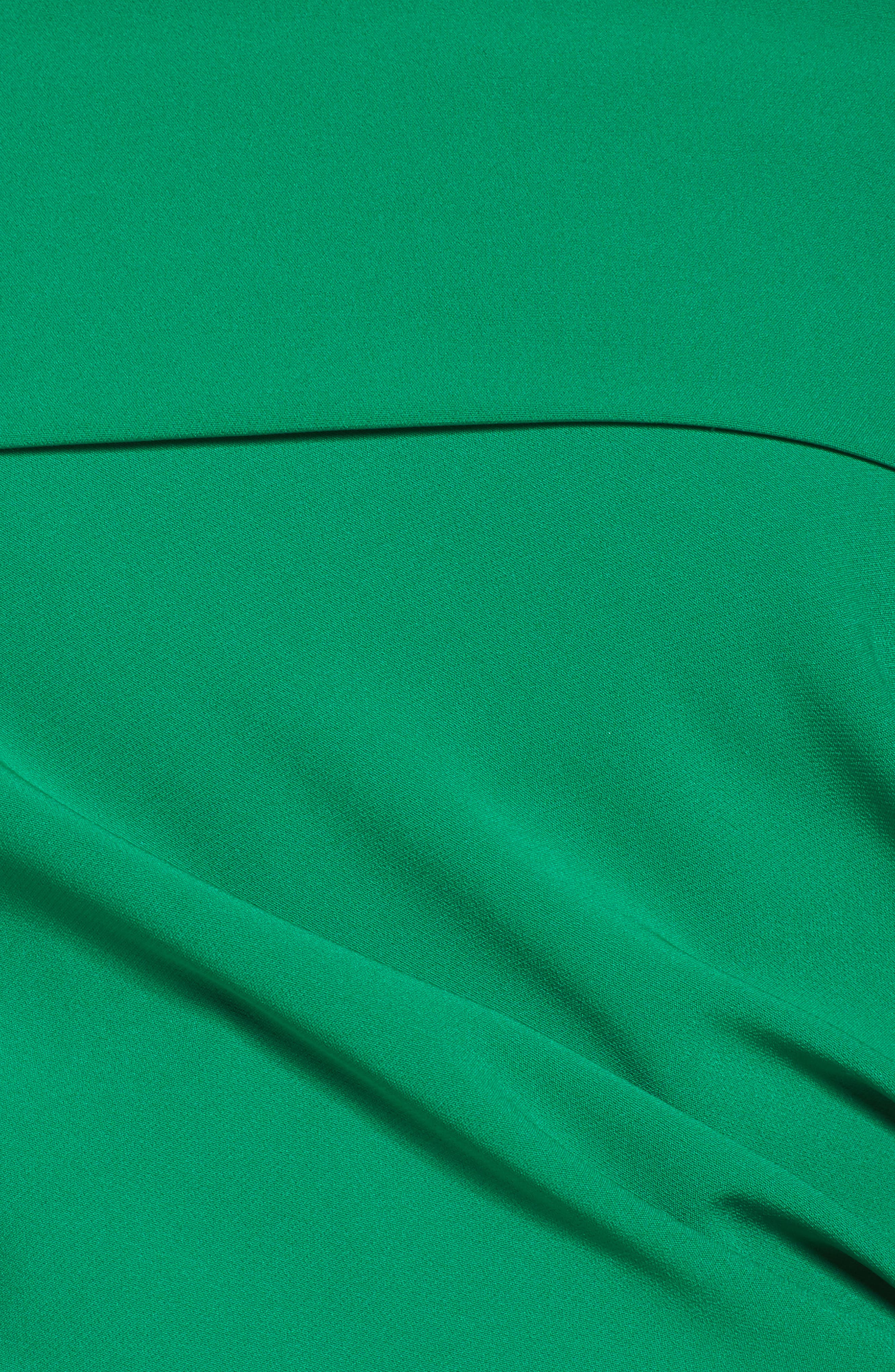 Off the Shoulder Crepe Gown,                             Alternate thumbnail 5, color,                             Green