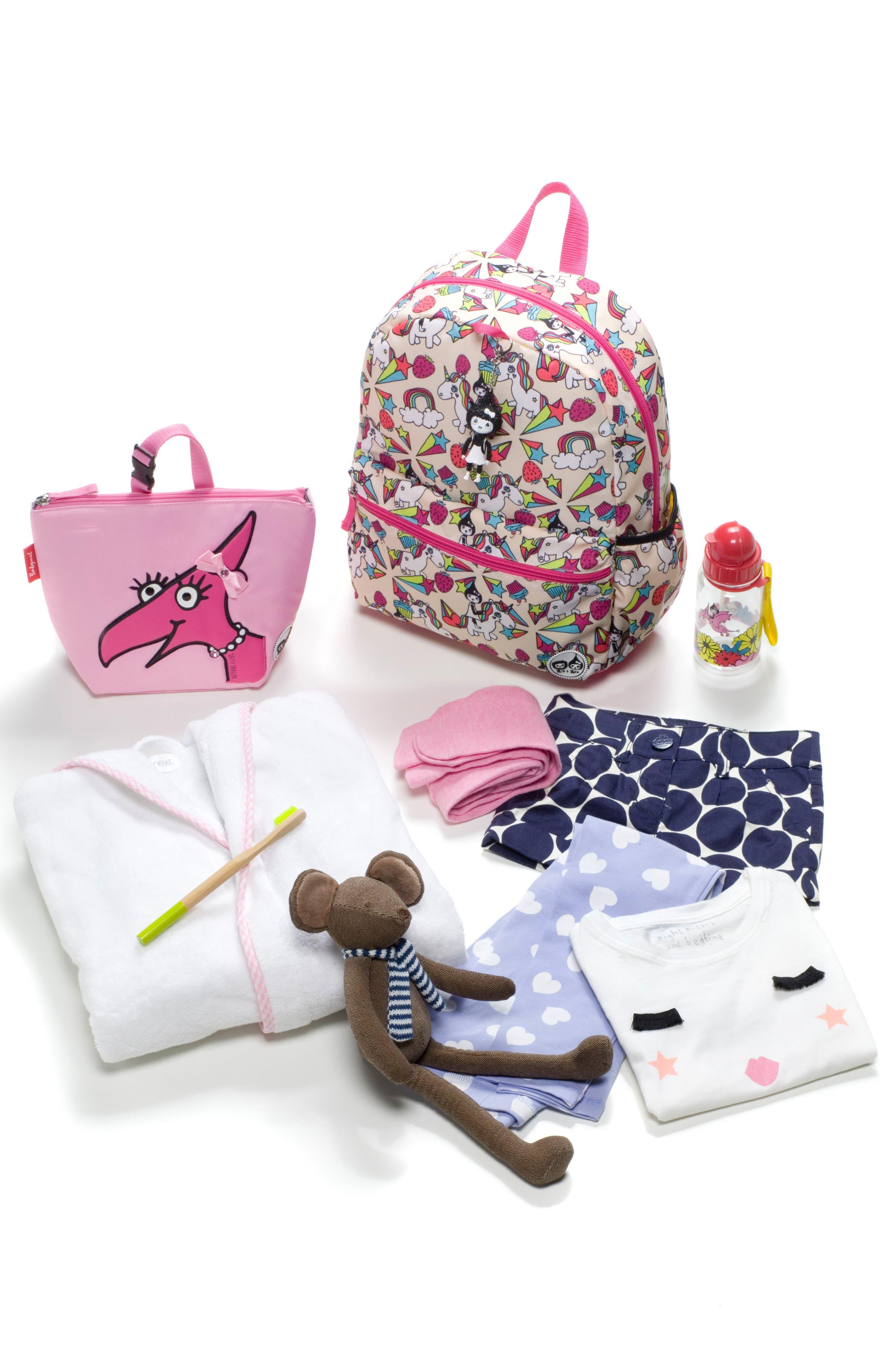 Zip & Zoe Unicorn Junior Backpack,                             Alternate thumbnail 8, color,                             White