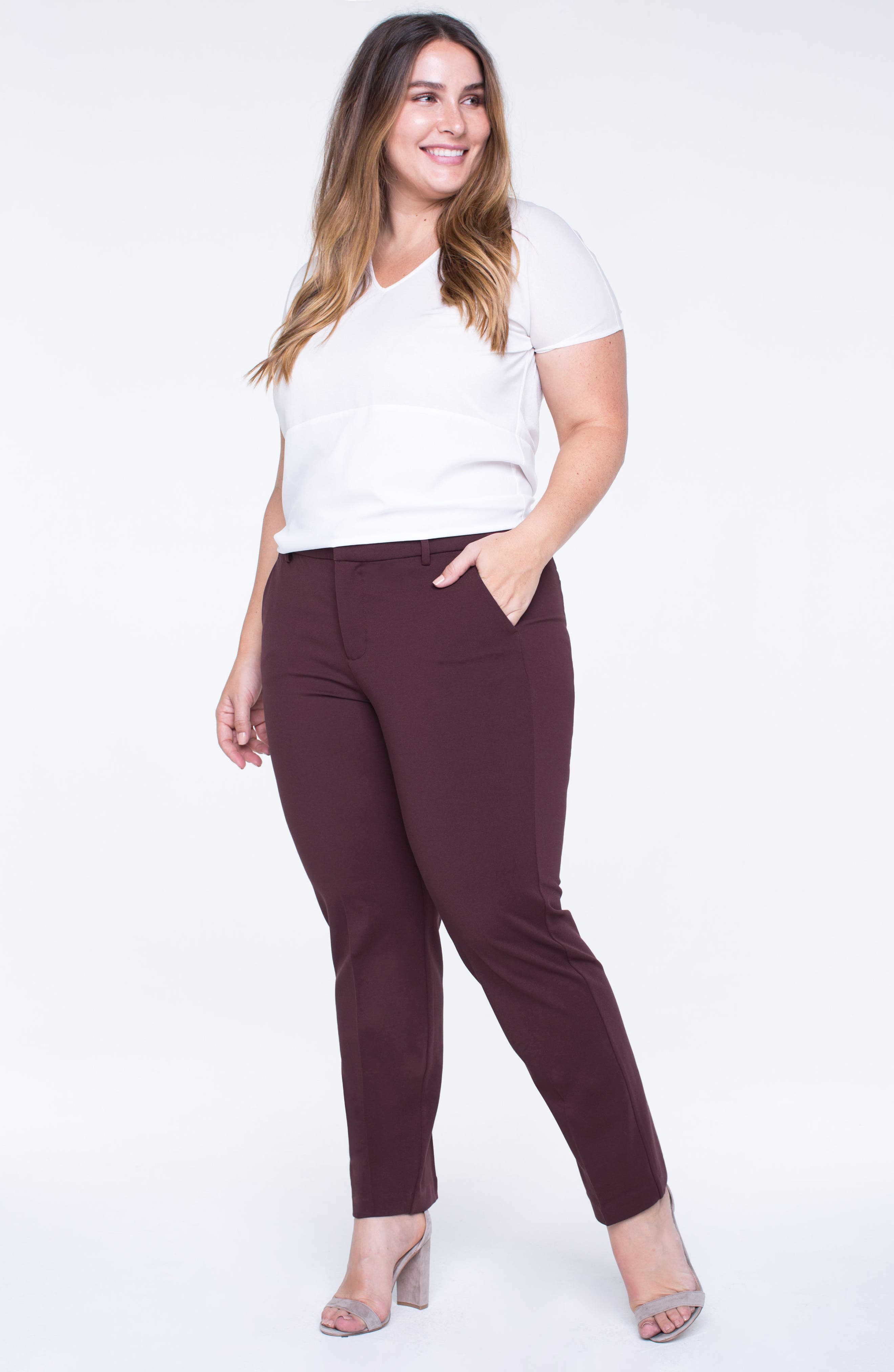 Alternate Image 4  - Liverpool Jeans Company Kelsey Ponte Knit Trousers (Plus Size)
