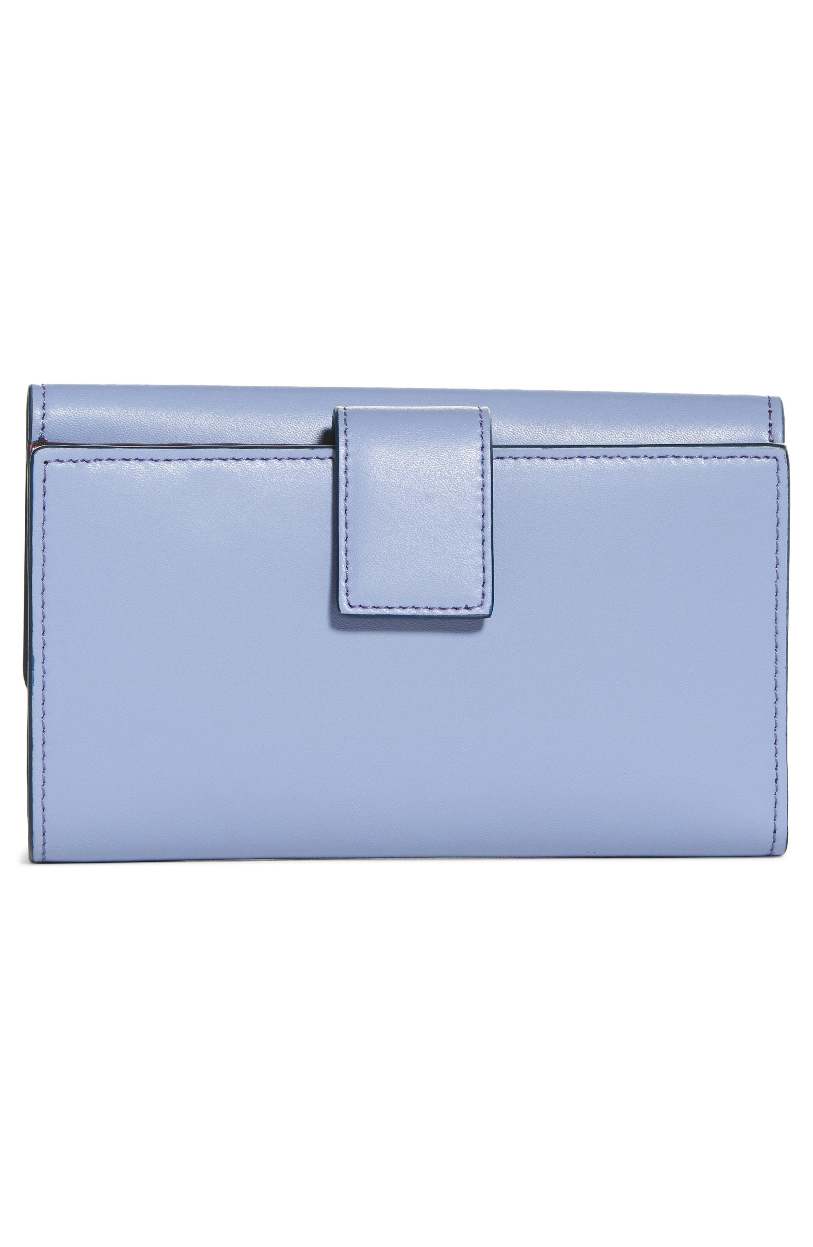 Medium Leather Wallet,                             Alternate thumbnail 3, color,                             Sky
