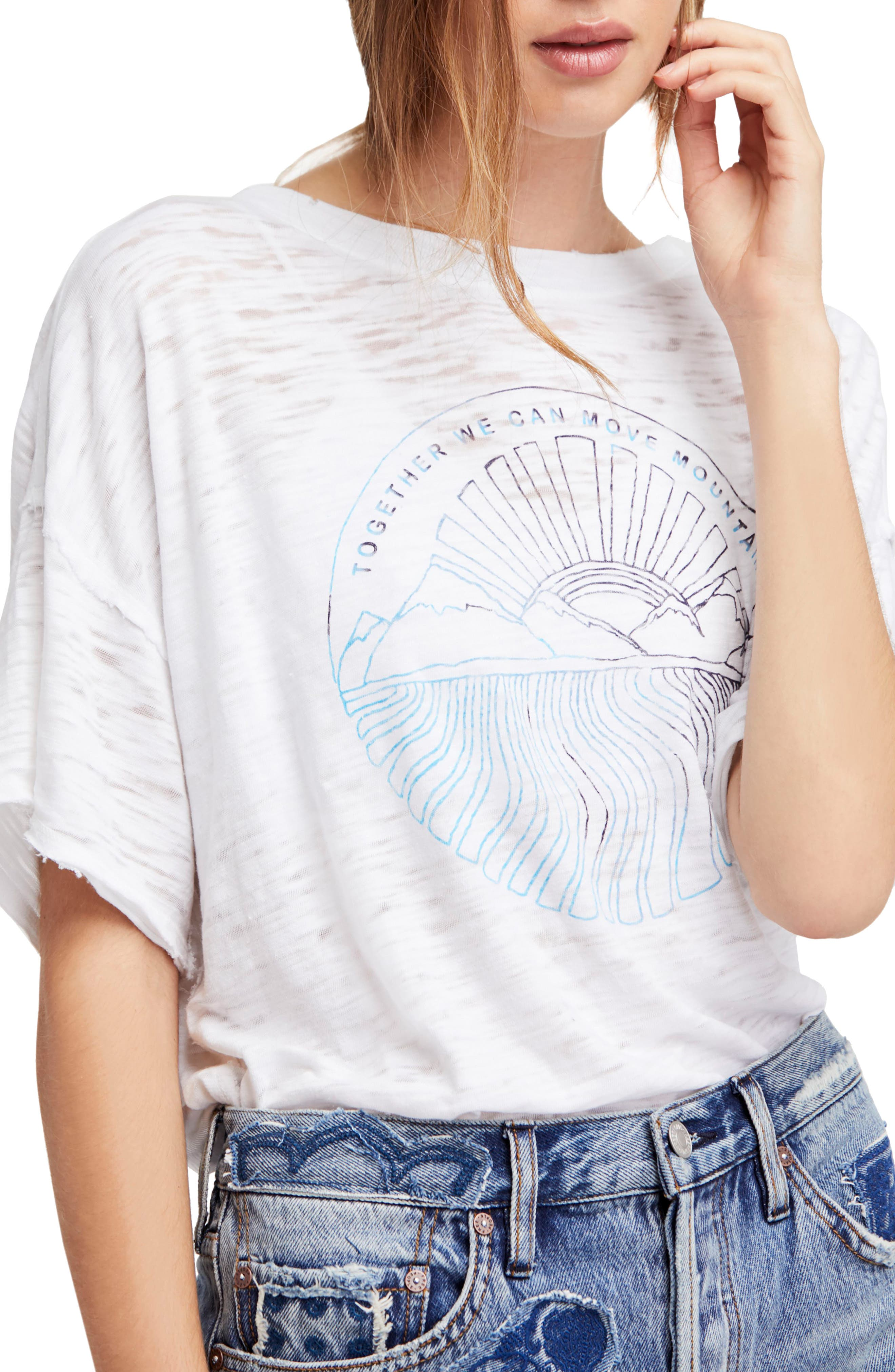 Graphic Tee,                             Main thumbnail 1, color,                             White