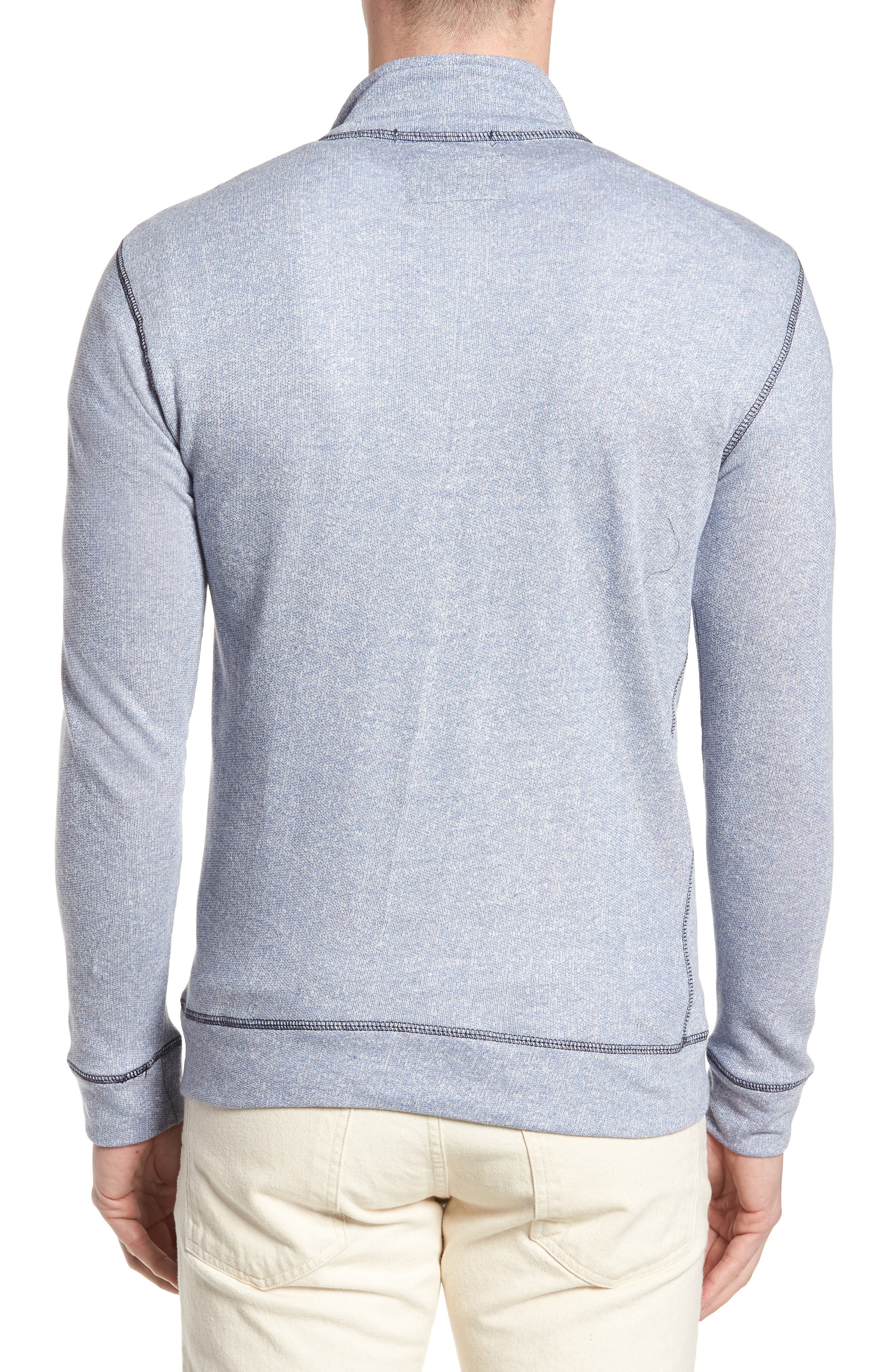 Regular Fit French Terry Pullover,                             Alternate thumbnail 2, color,                             Nautical Blue