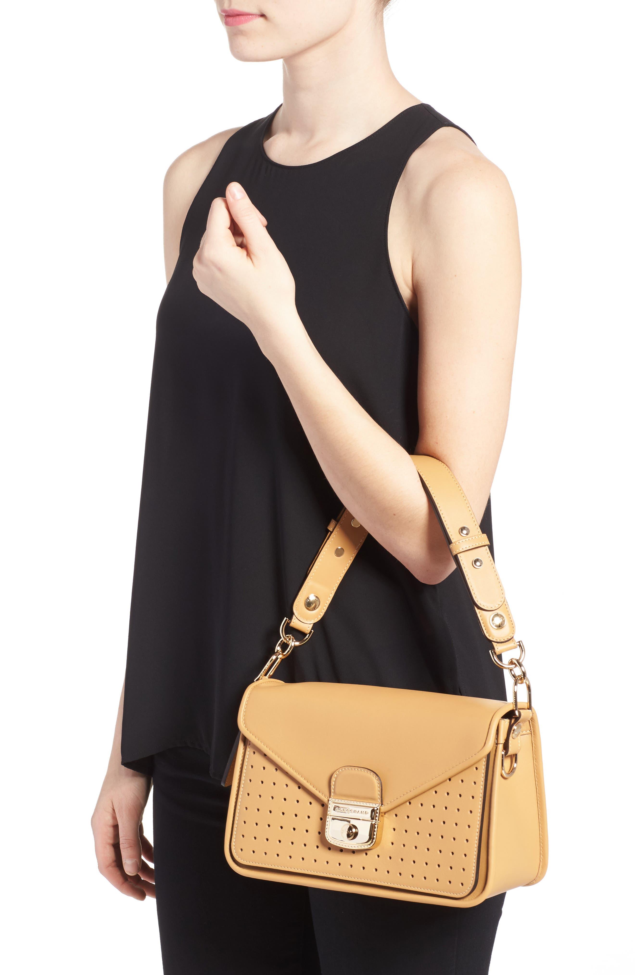Alternate Image 2  - Longchamp Mademoiselle Calfskin Leather Crossbody Bag