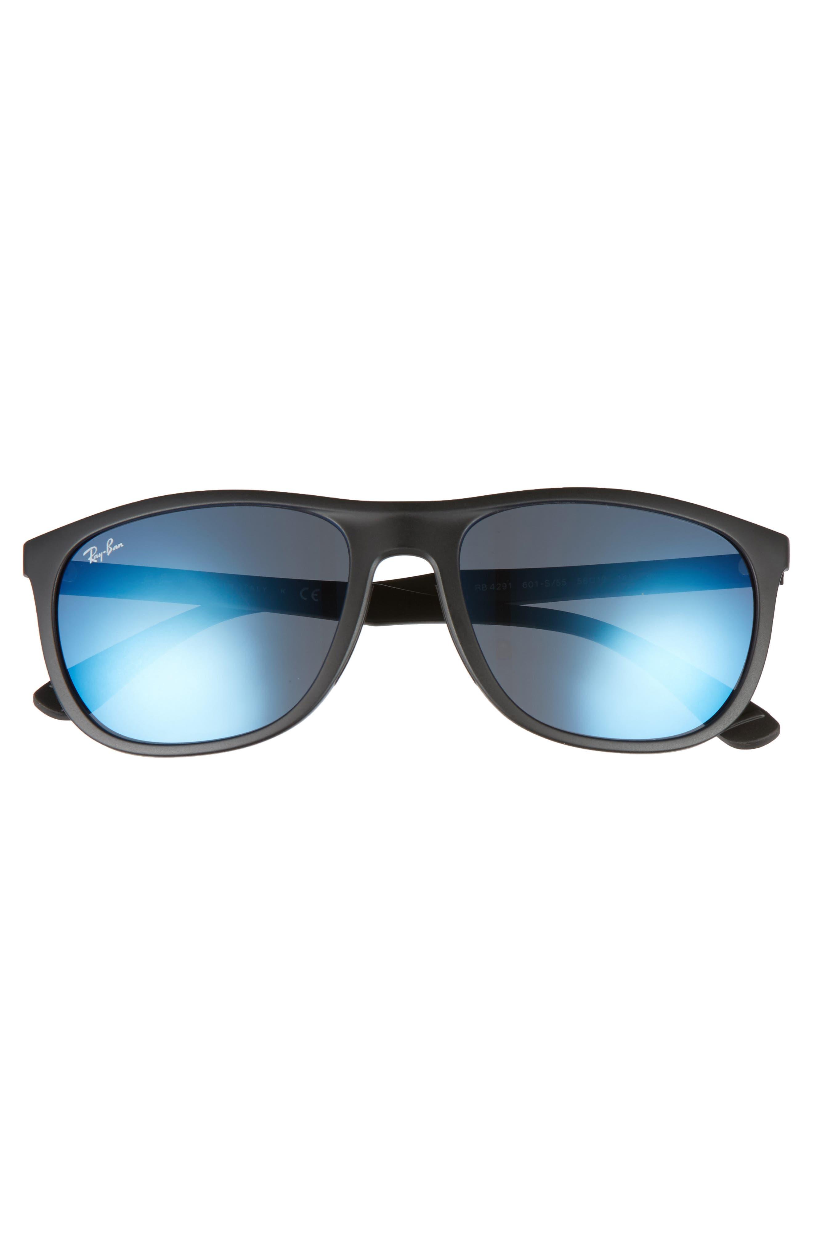 Active Lifestyle 58mm Sunglasses,                             Alternate thumbnail 2, color,                             Black/ Blue