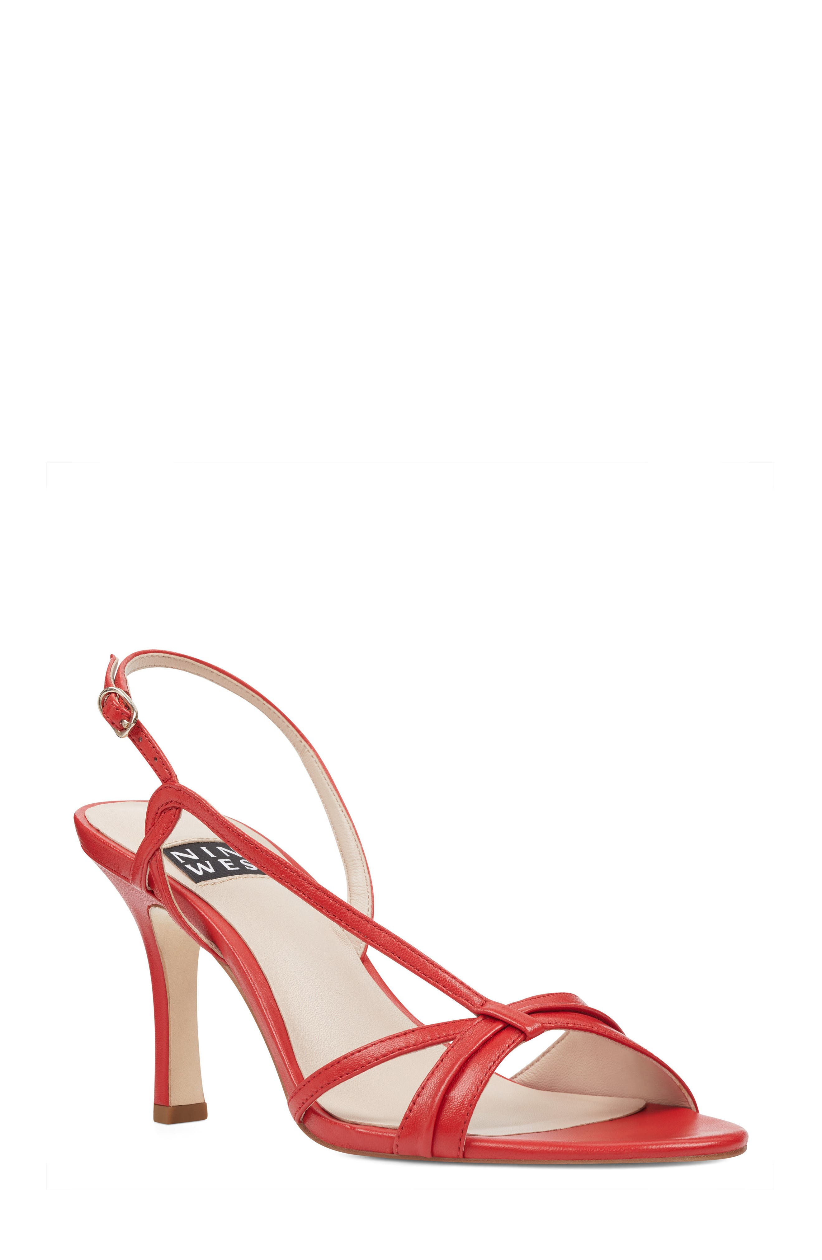 Accolia - 40th Anniversary Capsule Collection Sandal,                         Main,                         color, Red Leather