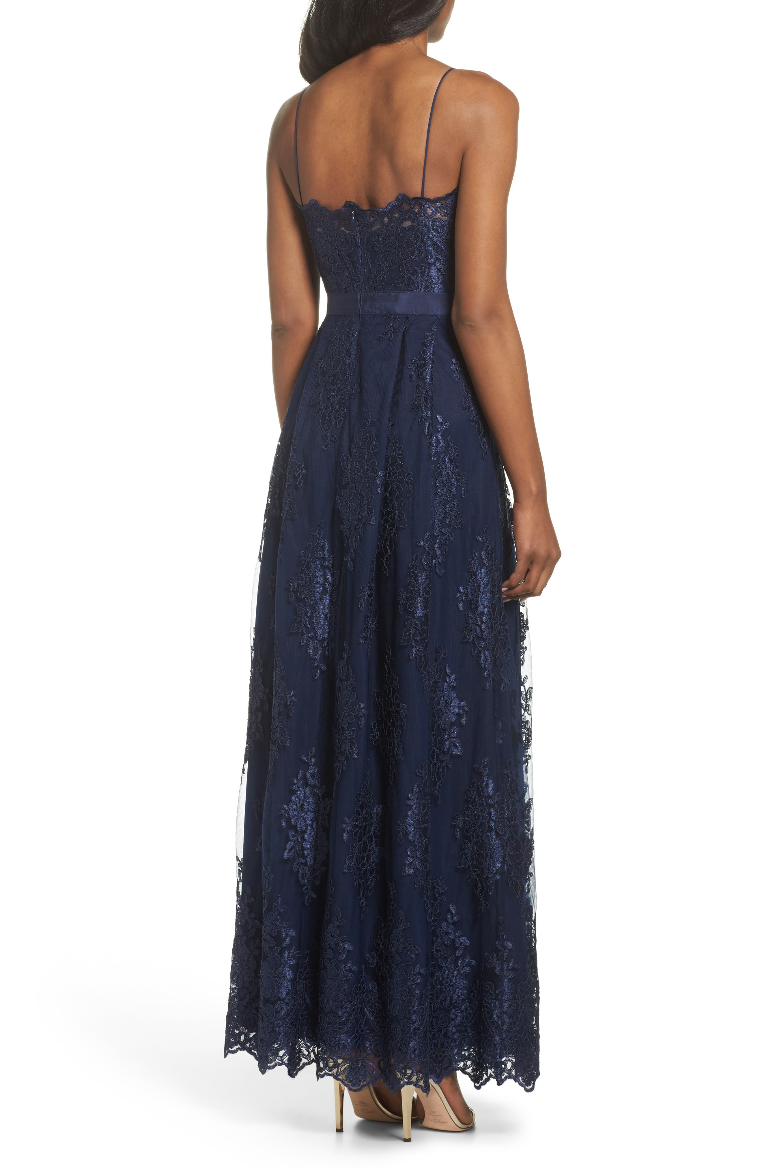 Lace Gown,                             Alternate thumbnail 2, color,                             Navy