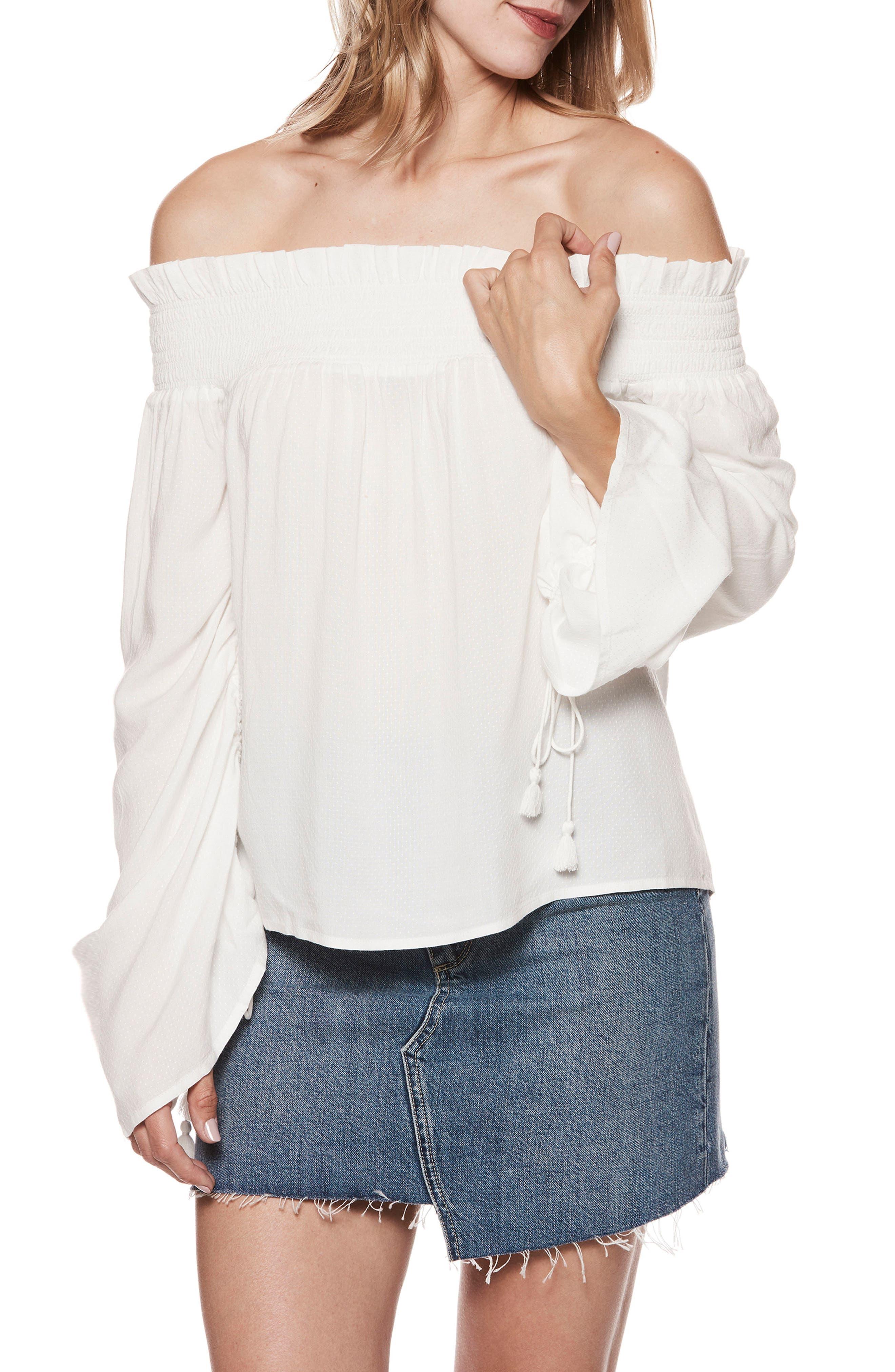 Cherita Off the Shoulder Top,                         Main,                         color, White