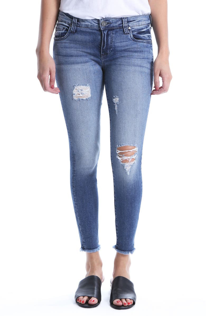 Connie Ripped Distressed Frayed Hem Jeans